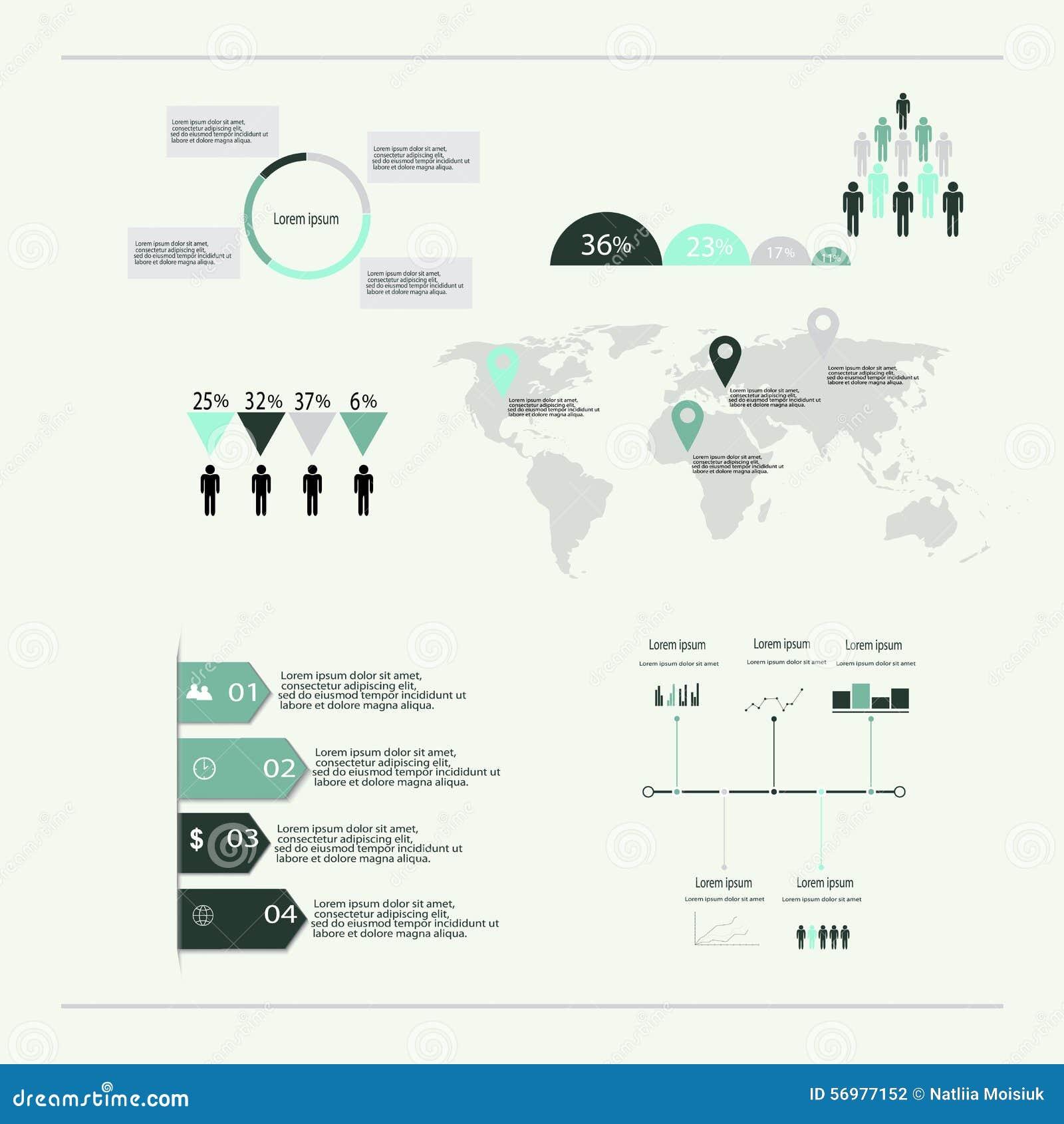 Nowożytni wektorowi abstrakcjonistyczni infographic elementy