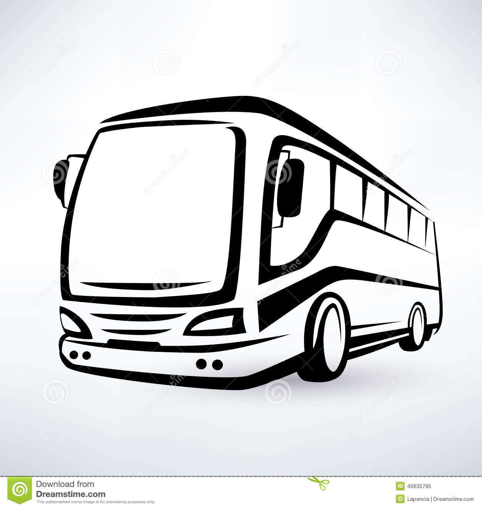 Nowożytny autobusowy symbol