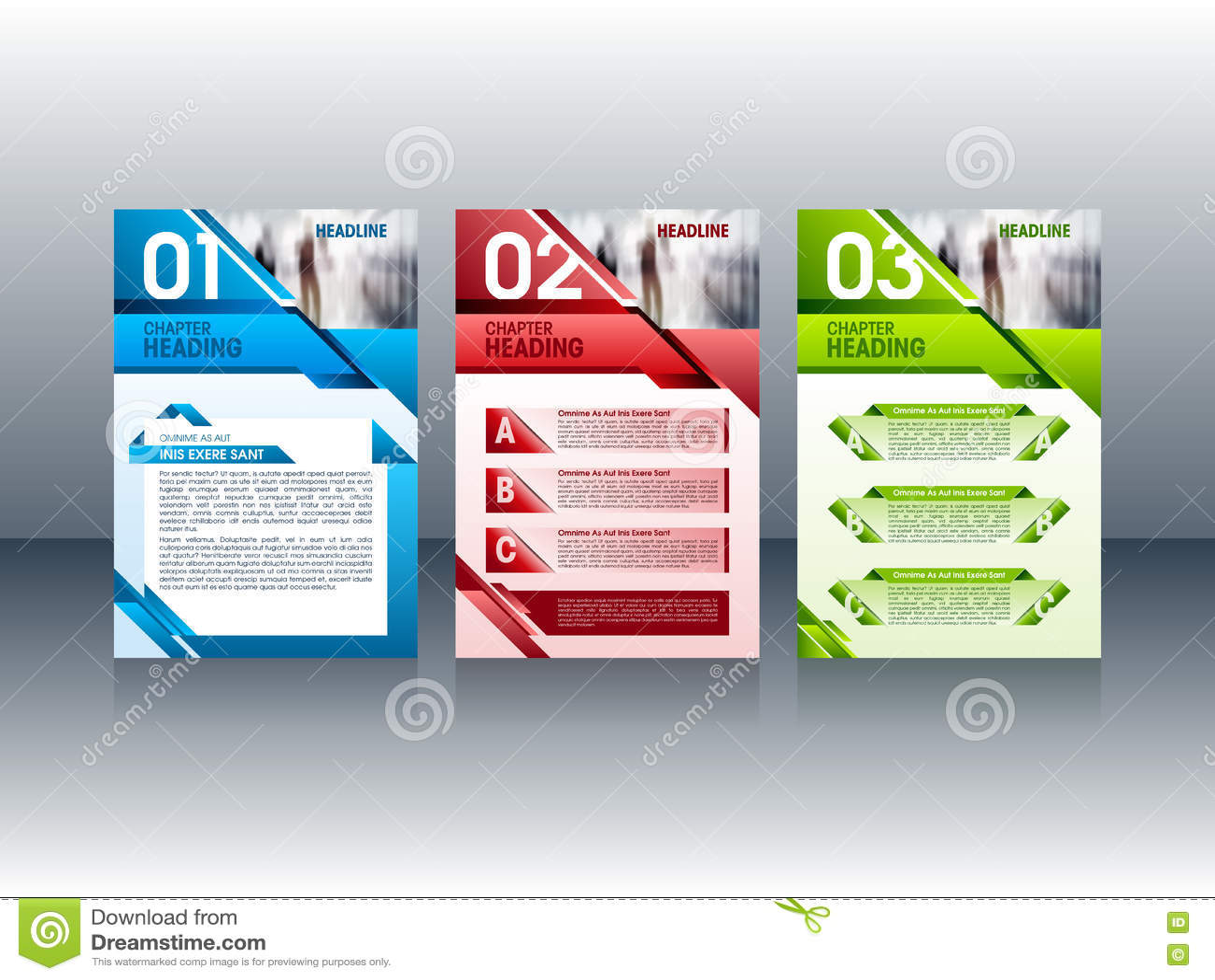 Nowożytny broszurka projekt, ulotki ulotki układu szablony również zwrócić corel ilustracji wektora