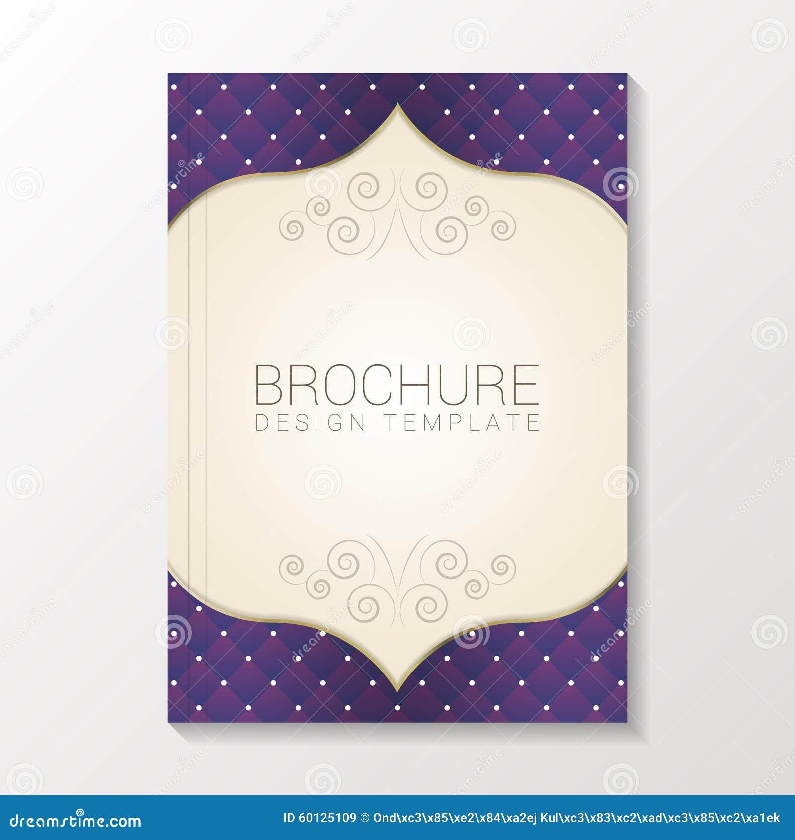 Nowożytny broszurka szablon, projekta szablon/książki, ulotki/ również zwrócić corel ilustracji wektora