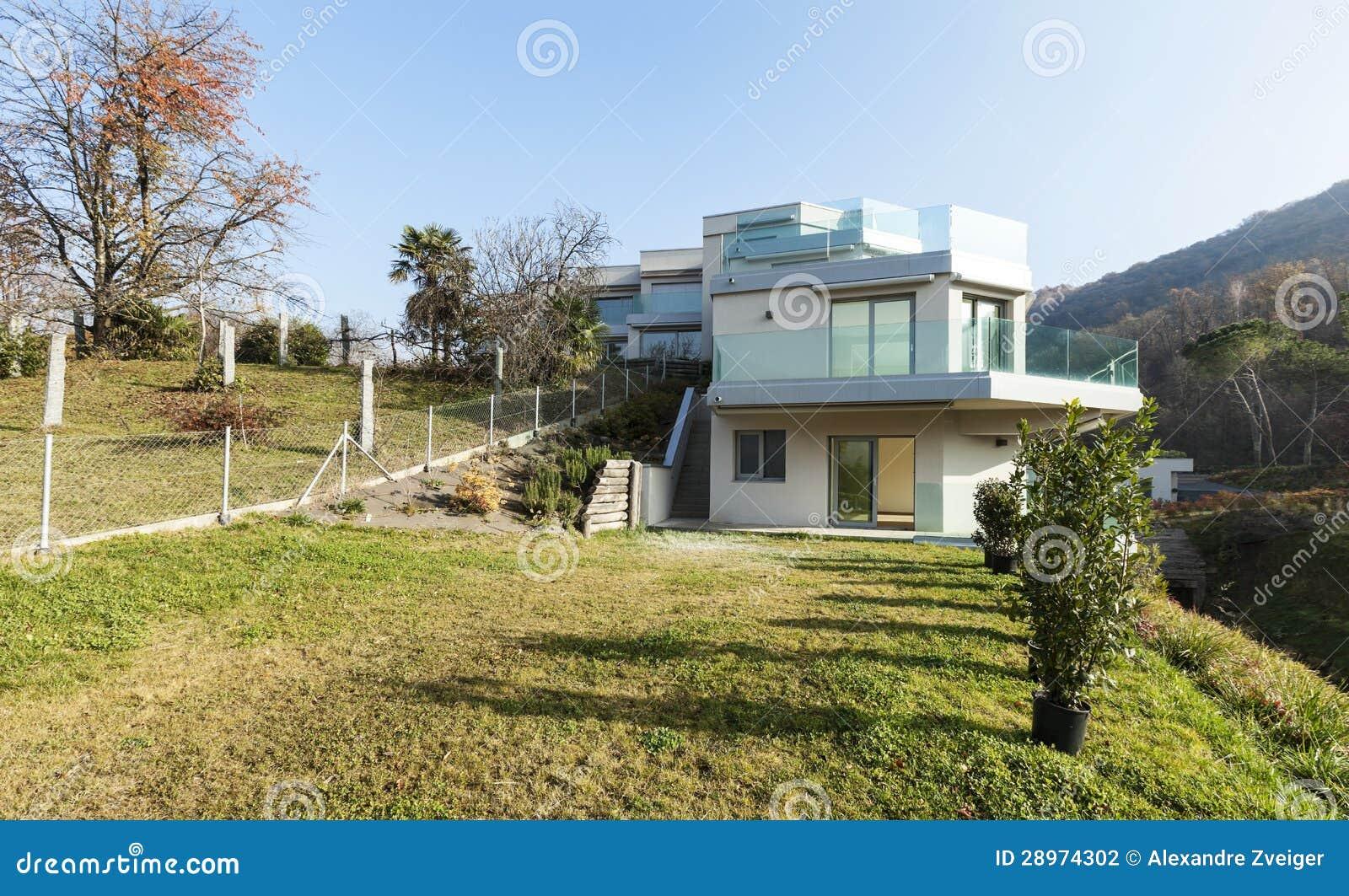 Nowożytny dom, plenerowy