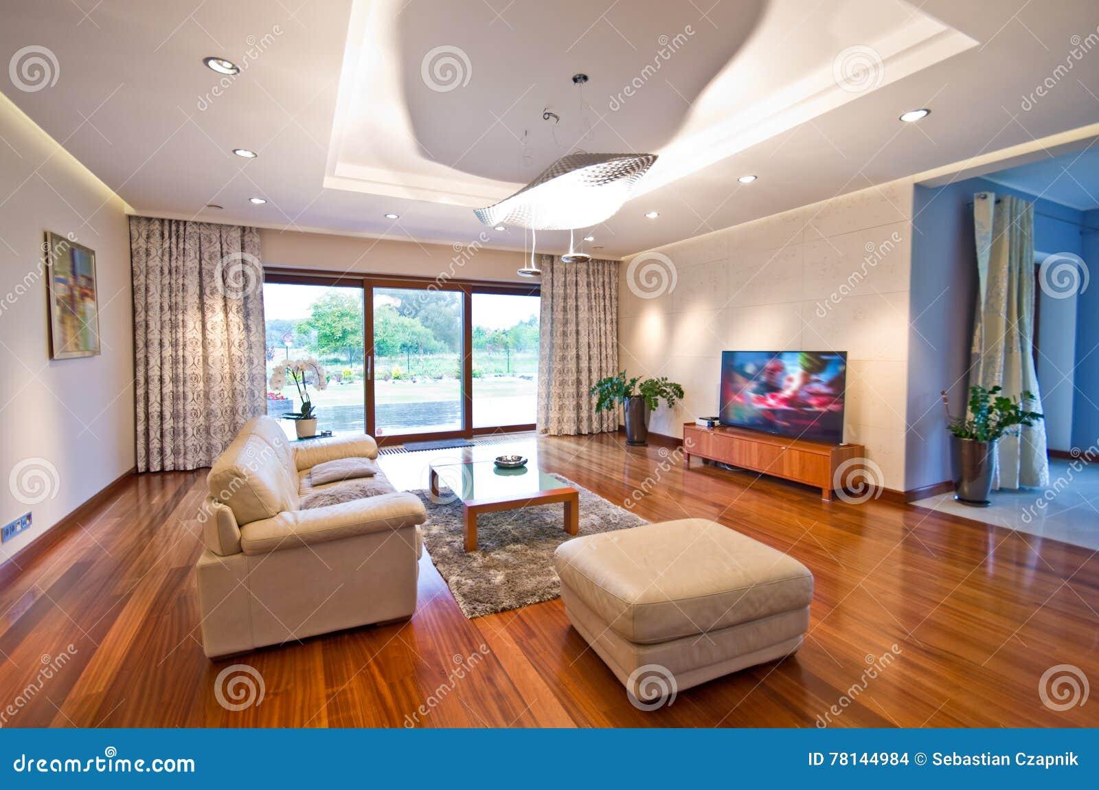 Nowożytny elegancki żywy pokój