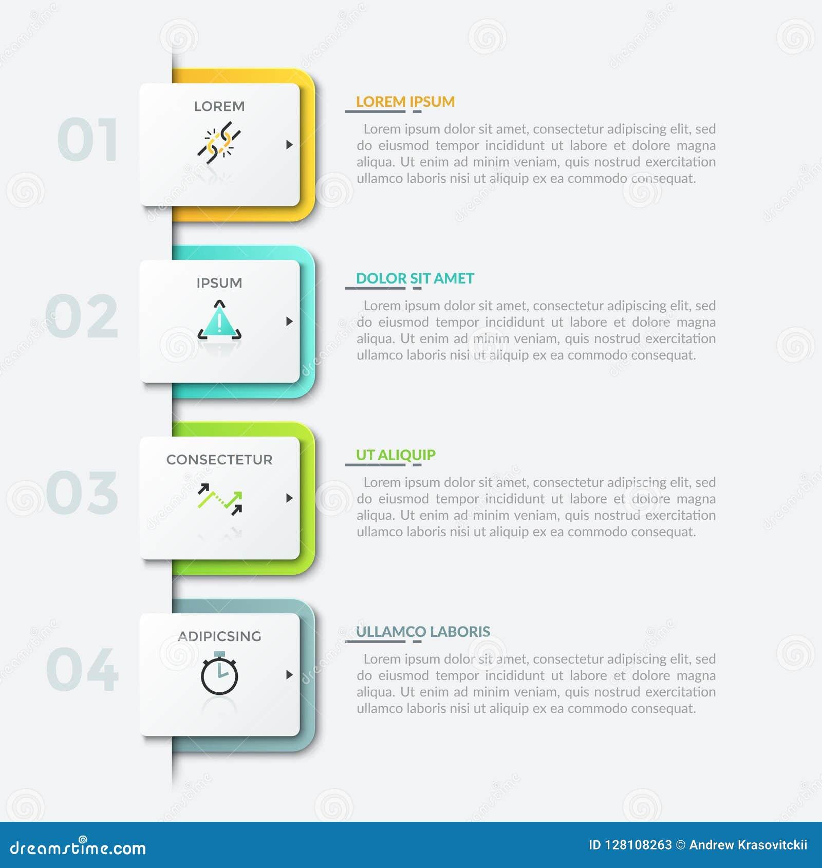 Nowożytny infographic projekta szablon