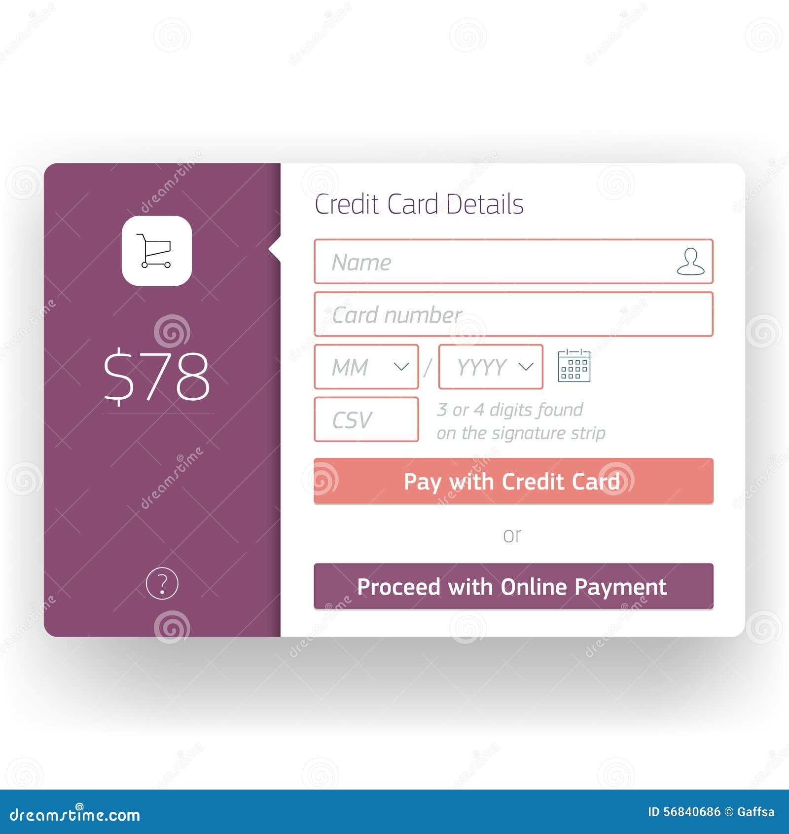 Nowożytny interfejs użytkownika kasy ekranu szablon dla