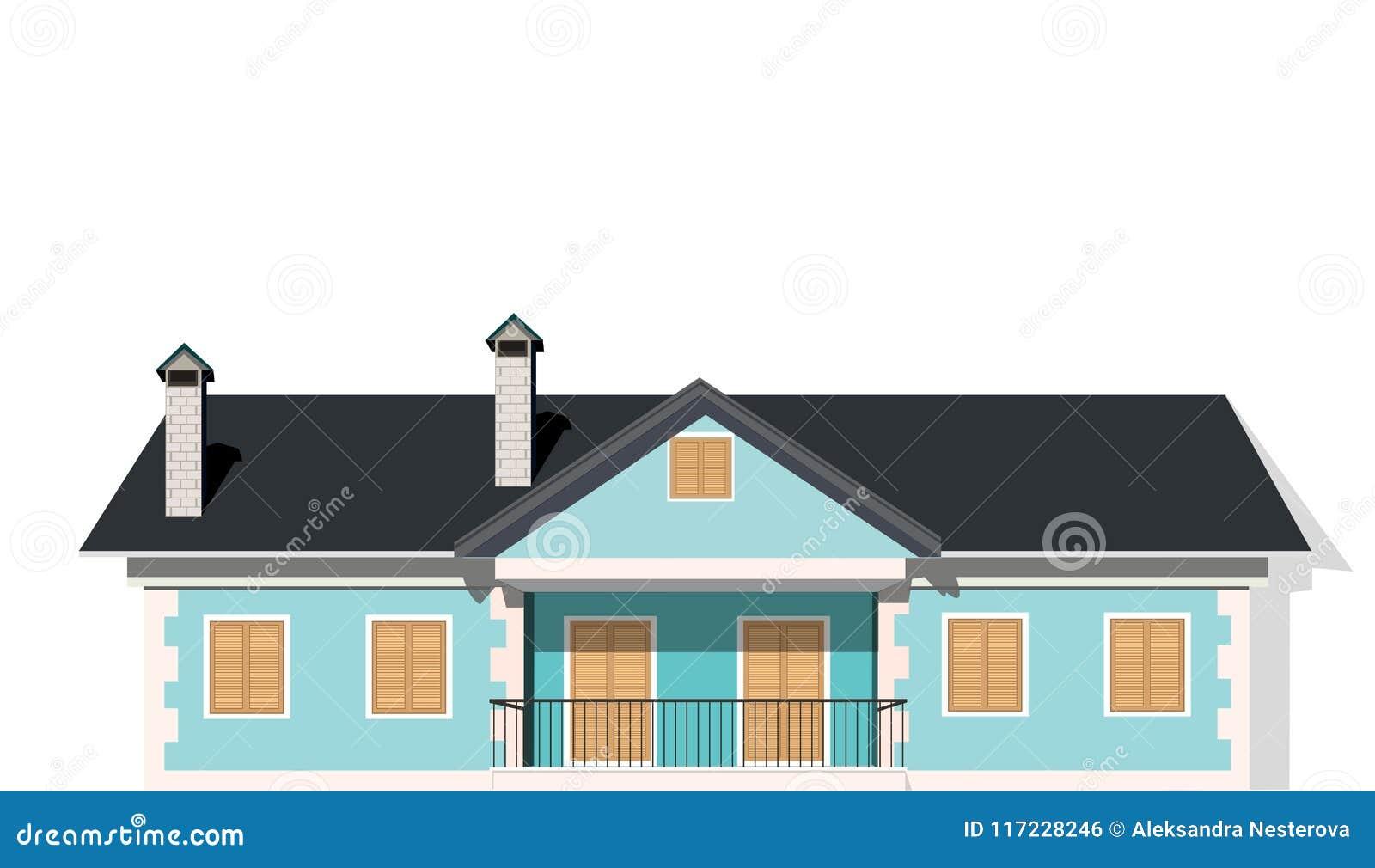 Nowożytny intymny dom, wektor