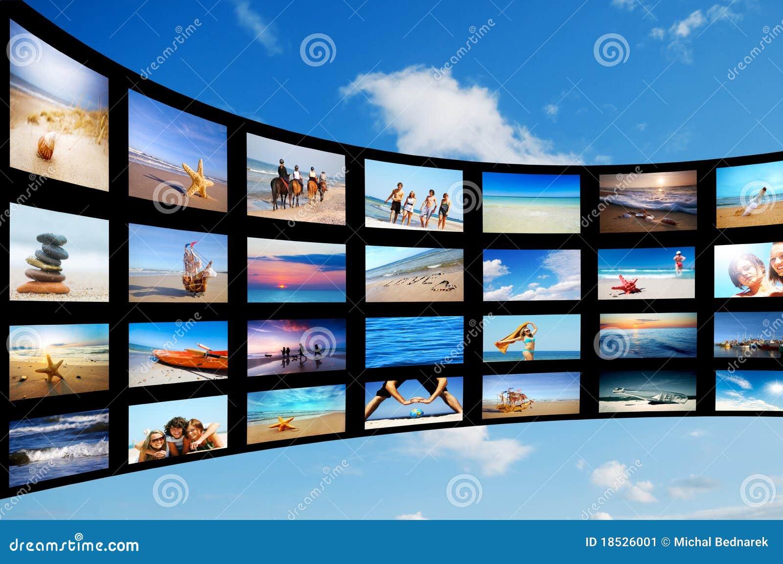 Nowożytny panel ekranizuje tv