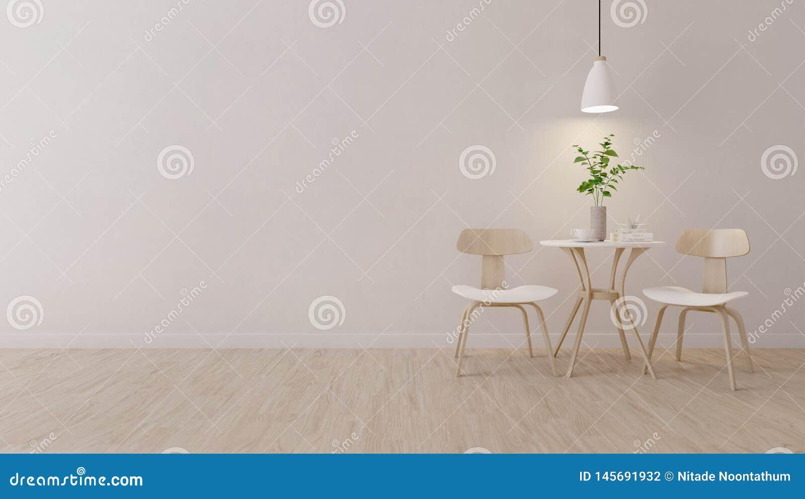 Nowożytny pokój z drewnianym krzesłem