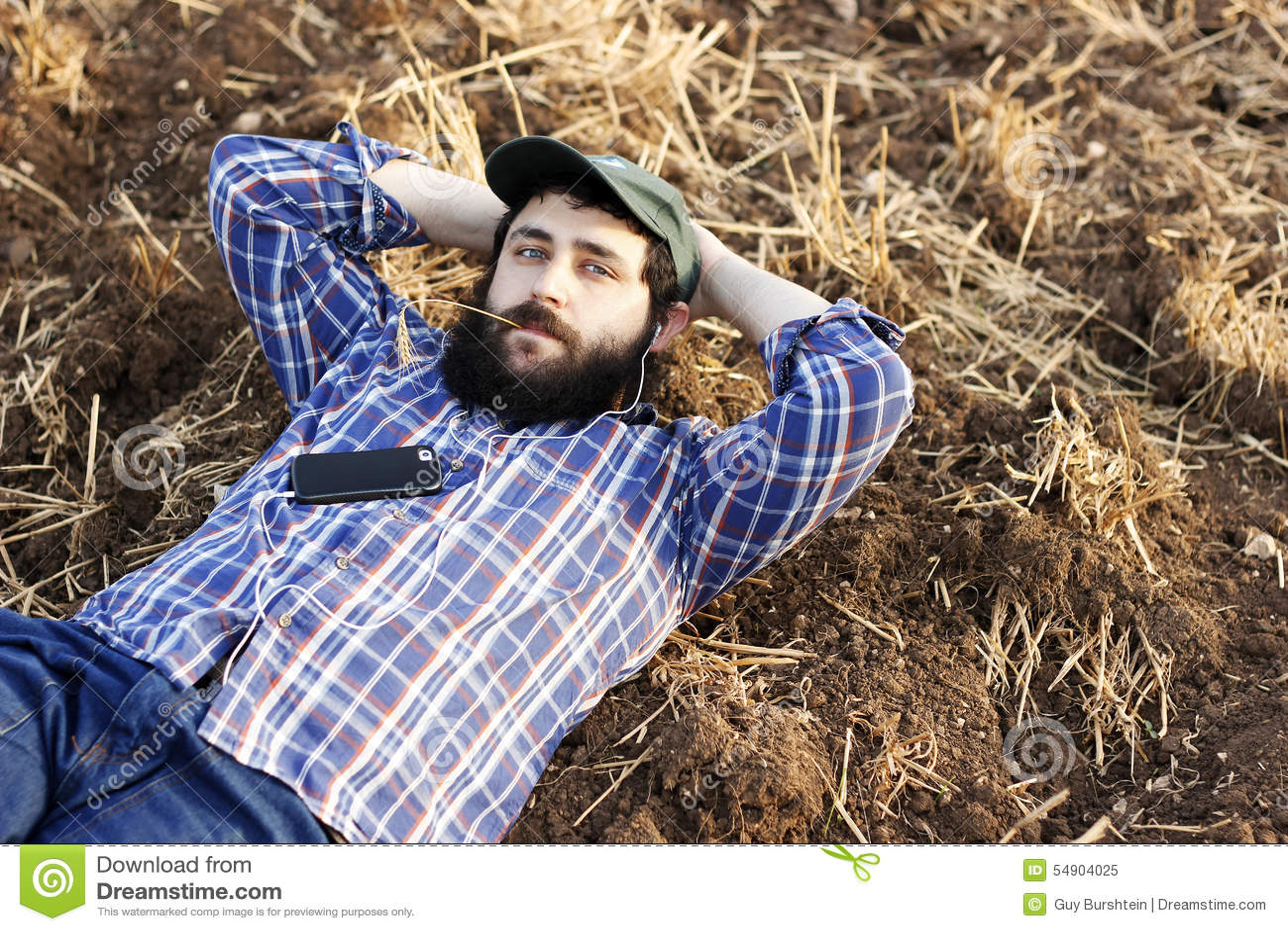 Nowożytny rolnik na przerwie