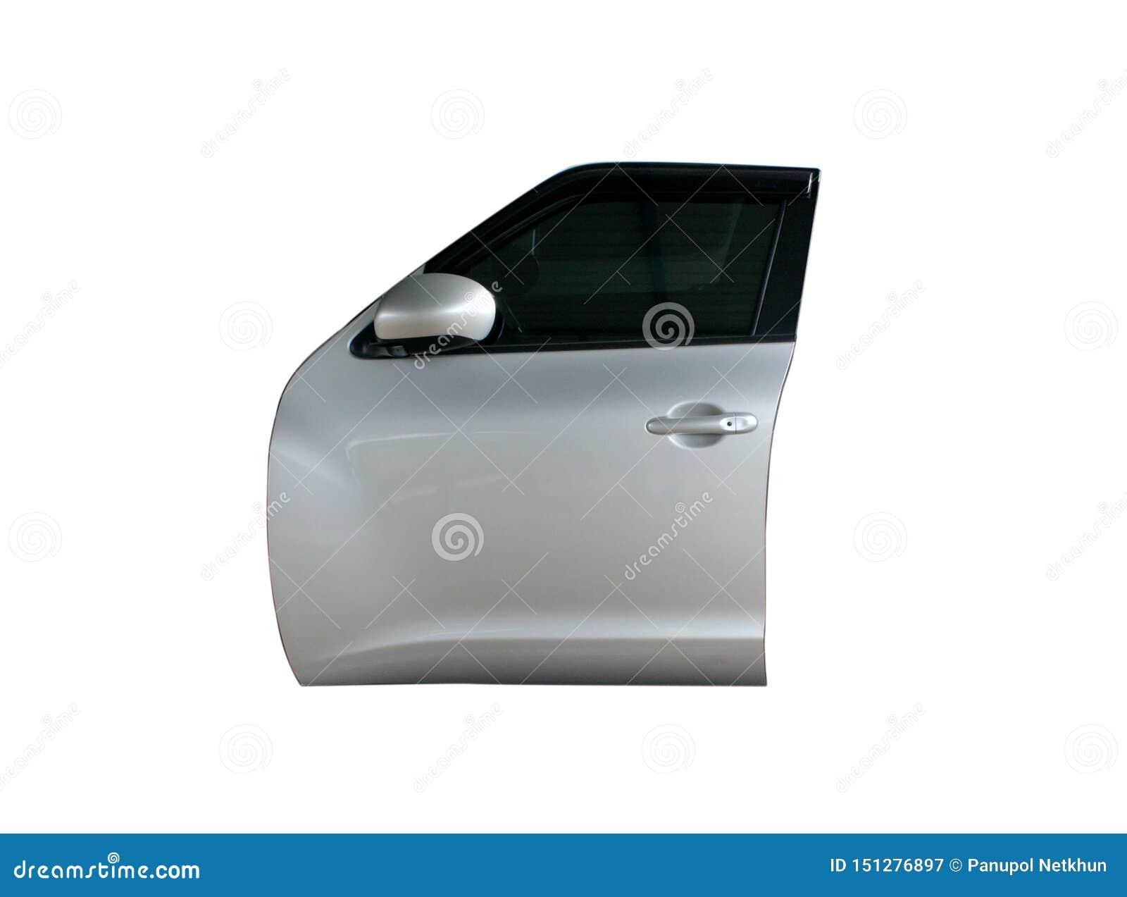 Nowożytny samochodowy drzwi na odosobnionym tle
