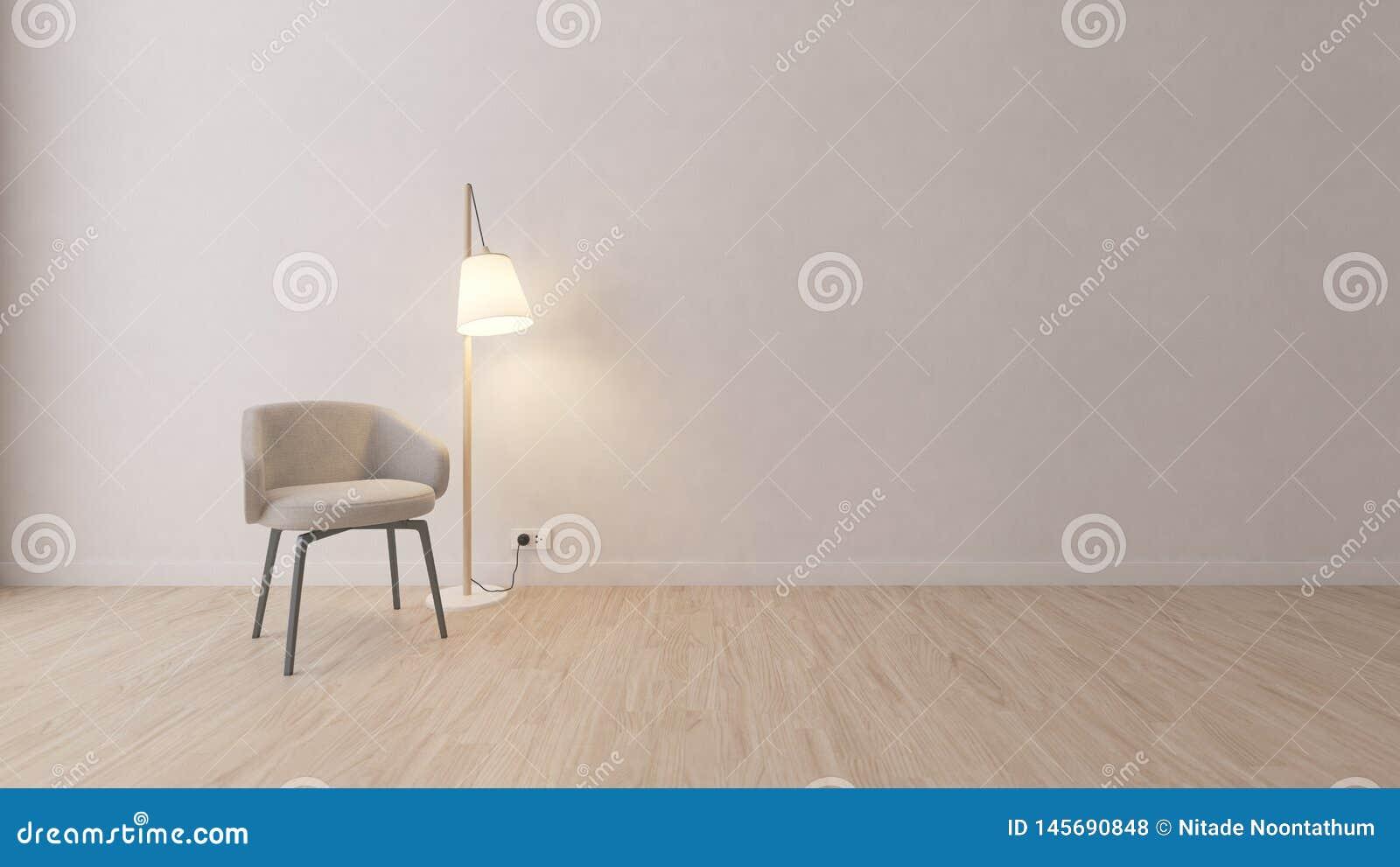 Nowożytny siwieje krzesła w białym pokoju