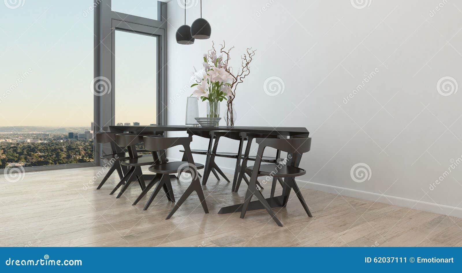 Nowożytny stół i krzesła w Rzadkiej jadalni