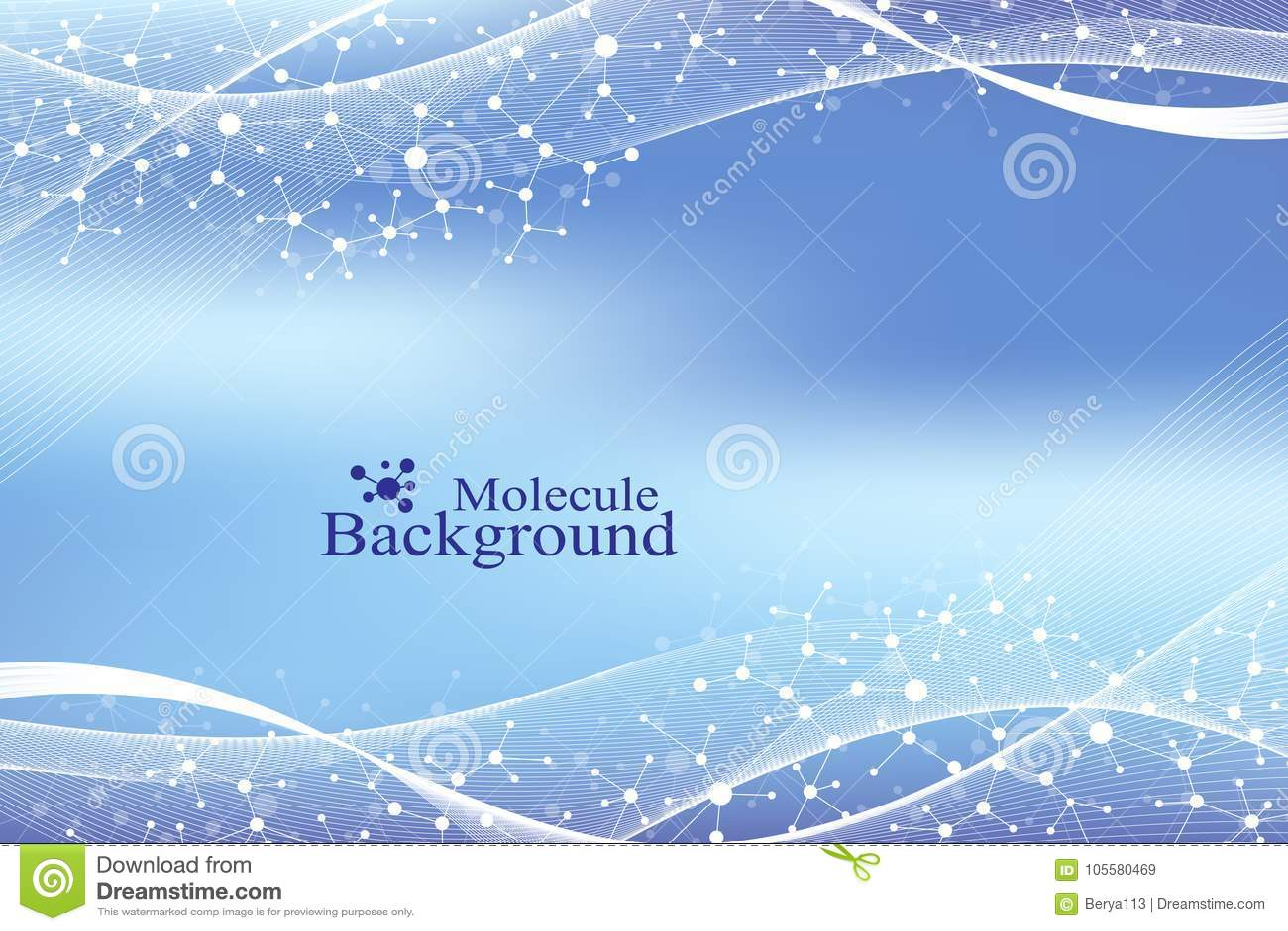 Nowożytny struktury molekuły DNA Atom Molekuły i komunikaci tło dla medycyny, nauka, technologia, chemia
