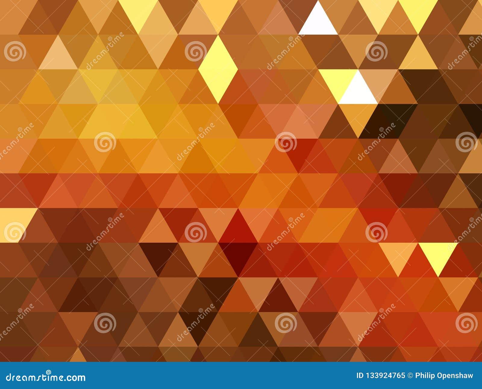 Nowożytny trójbok mozaiki złota błyszczący geometryczny niski poli- tło