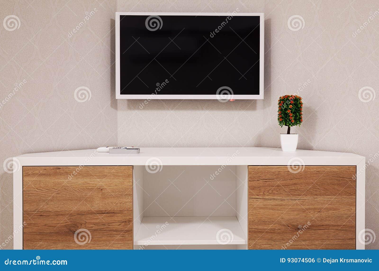 Nowożytny TV i pokoju kąt