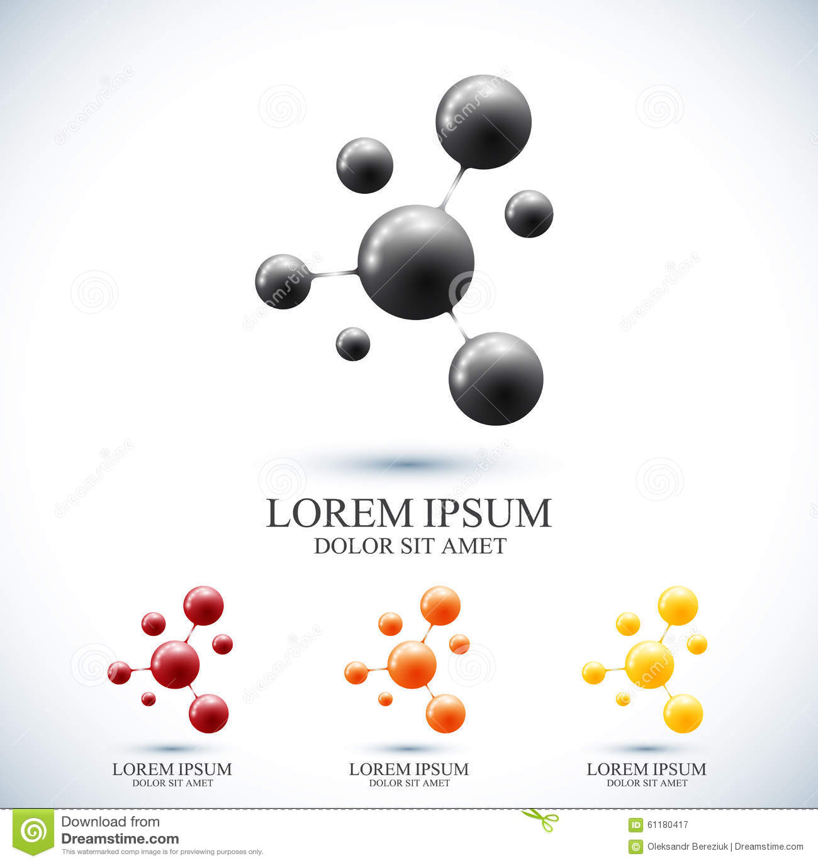 Nowożytny ustalony logotyp ikony dna i molekuła Wektorowy szablon dla medycyny, nauka, technologia, chemia, biotechnologia