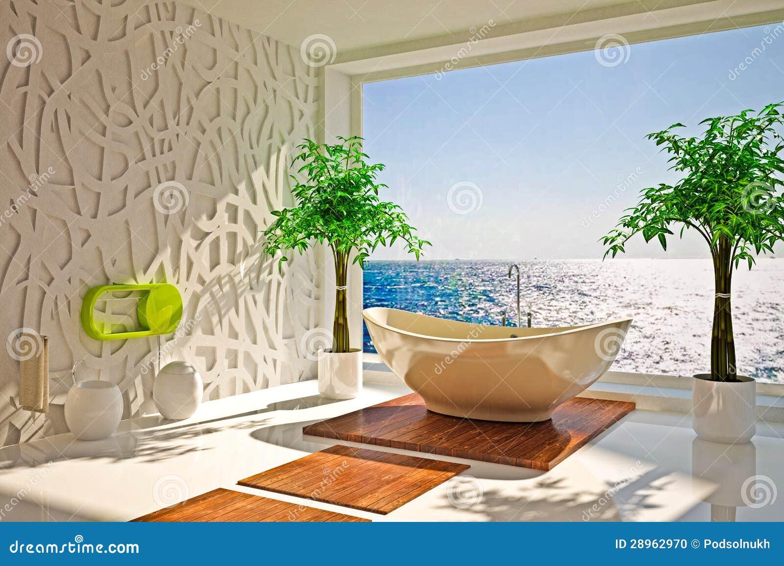 Nowożytny wnętrze łazienka
