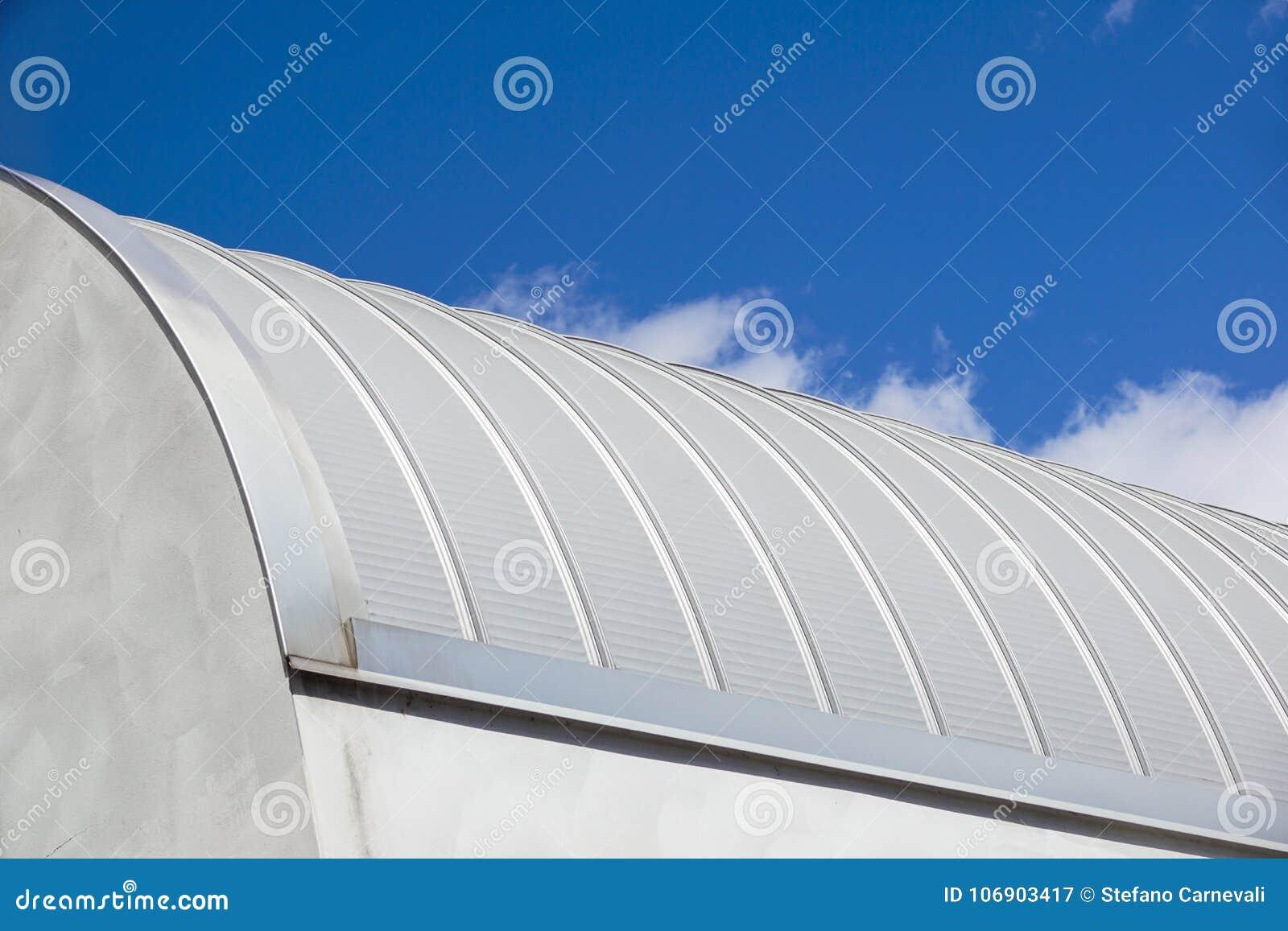 Nowoczesna konstrukcja Metal żebrujący piędzi dachowy nakrycie pięknie wyglądać na zewnątrz w młodych kobiet