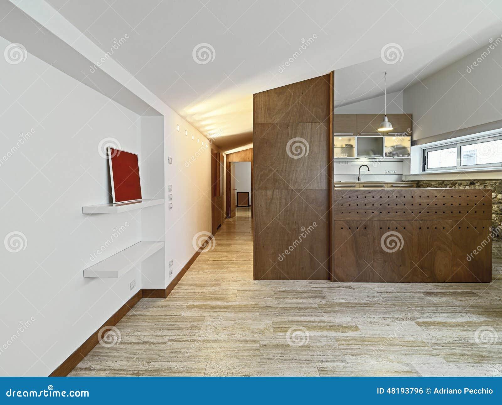 Nowoczesna Kuchnia Drewna Zdjęcie Stock Obraz Złożonej Z