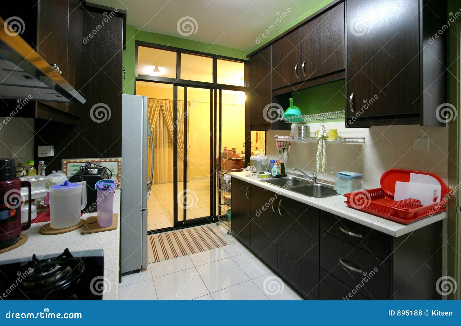 Nowoczesna kuchnia mieszkanie.