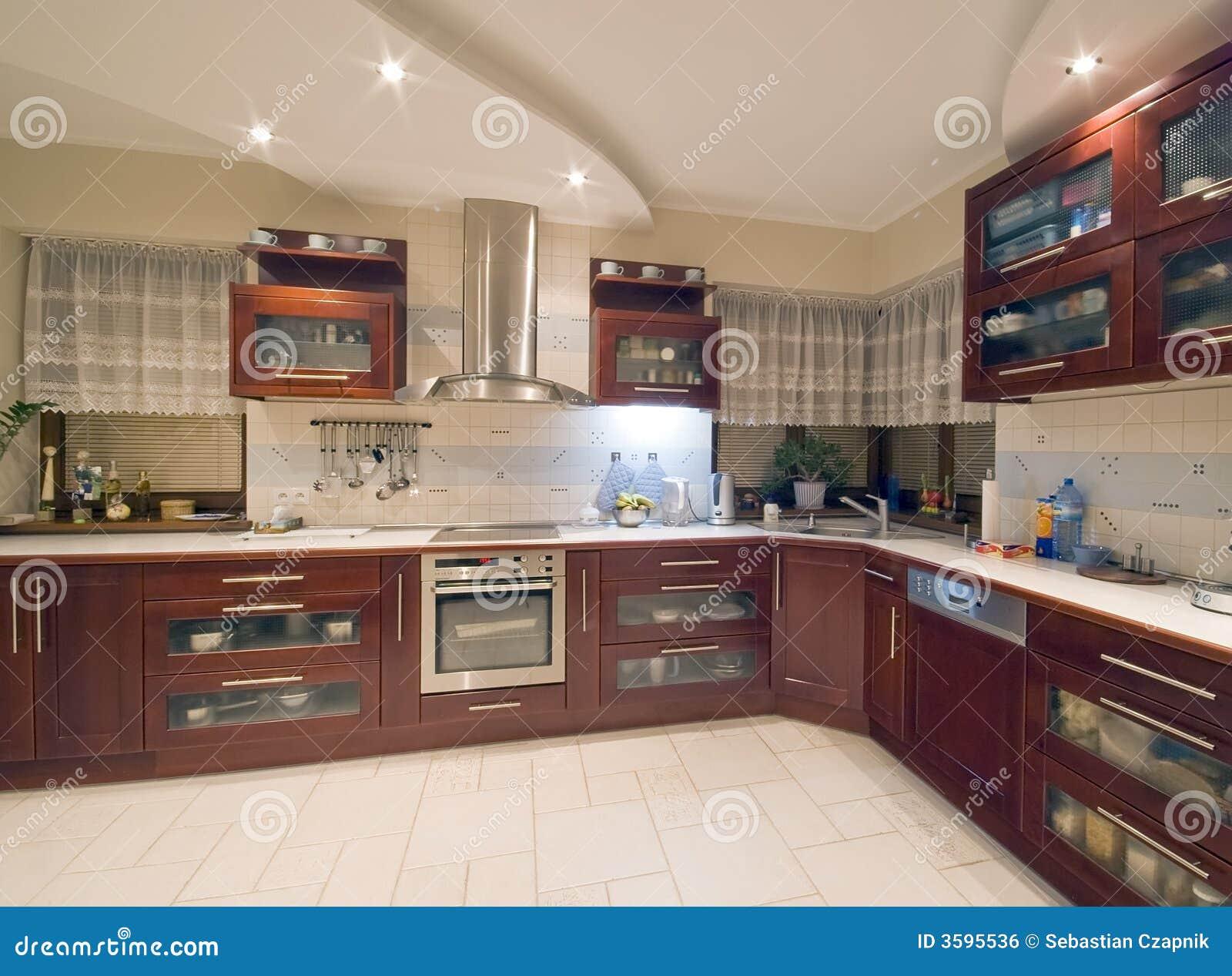 Nowoczesna Kuchnia Wewnętrznego Obraz Royalty Free  Obraz