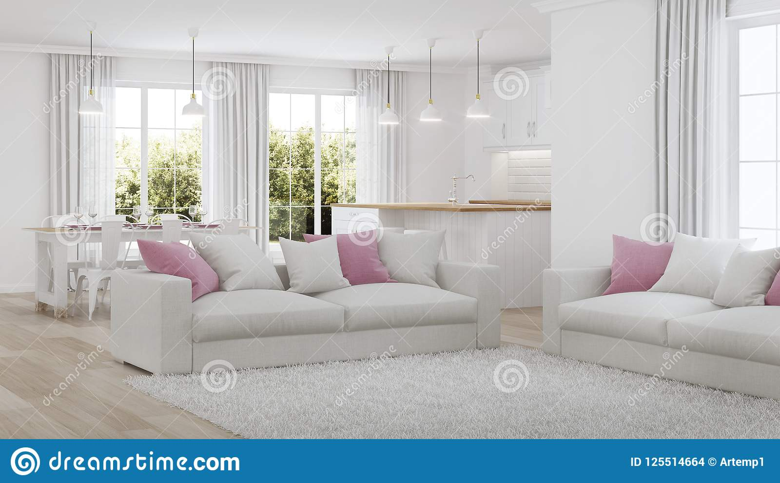 Nowoczesne wewnętrznego w domu white wewnętrznego