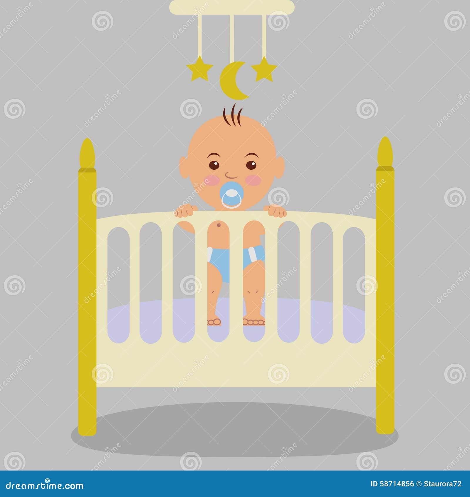 Nowonarodzony Dziecko Jest W ściąga Trzyma Ręki Na łóżku Polowym