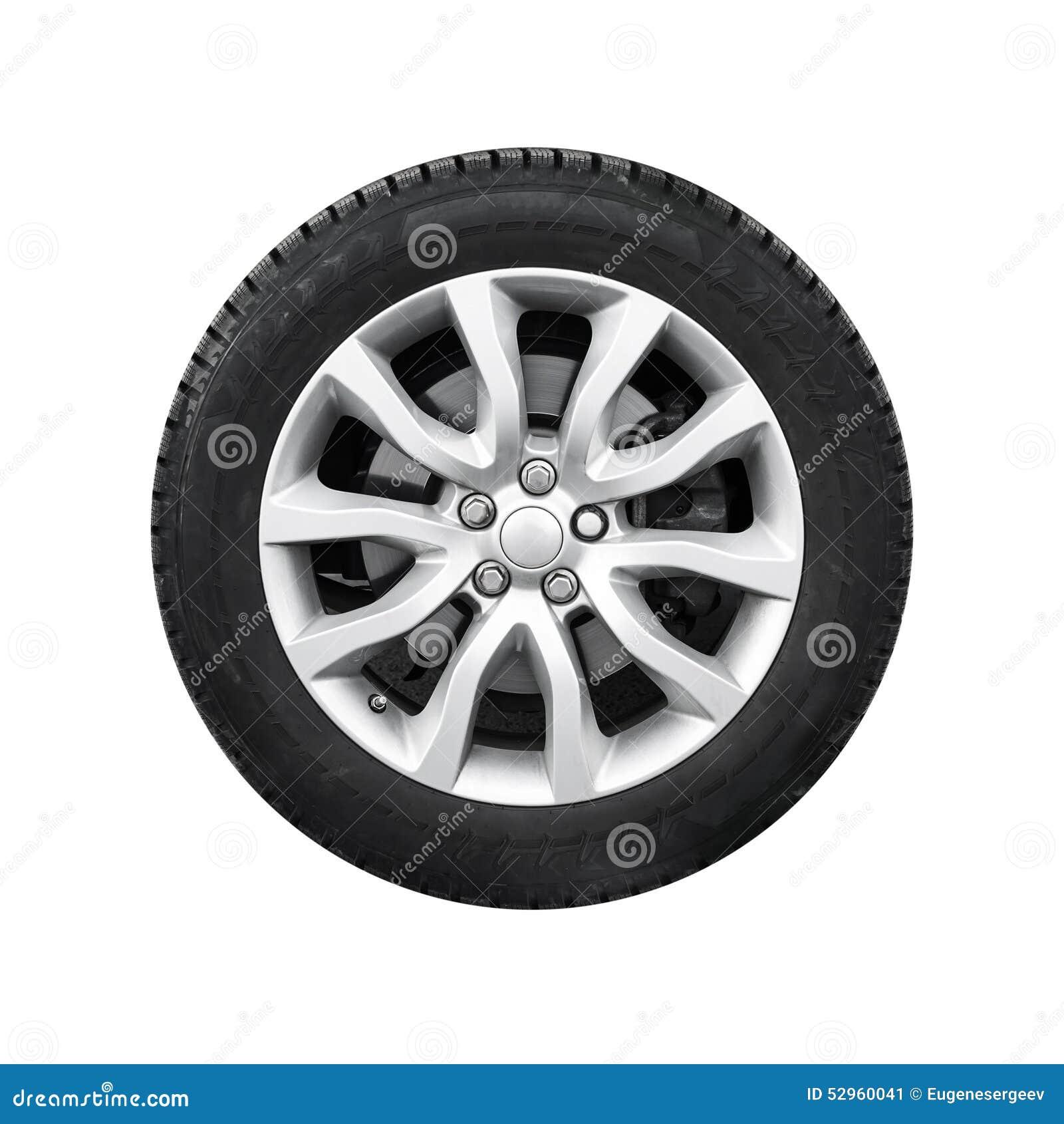 Nowy błyszczący automobilowy koło na lekkiego aliażu dysku odizolowywającym