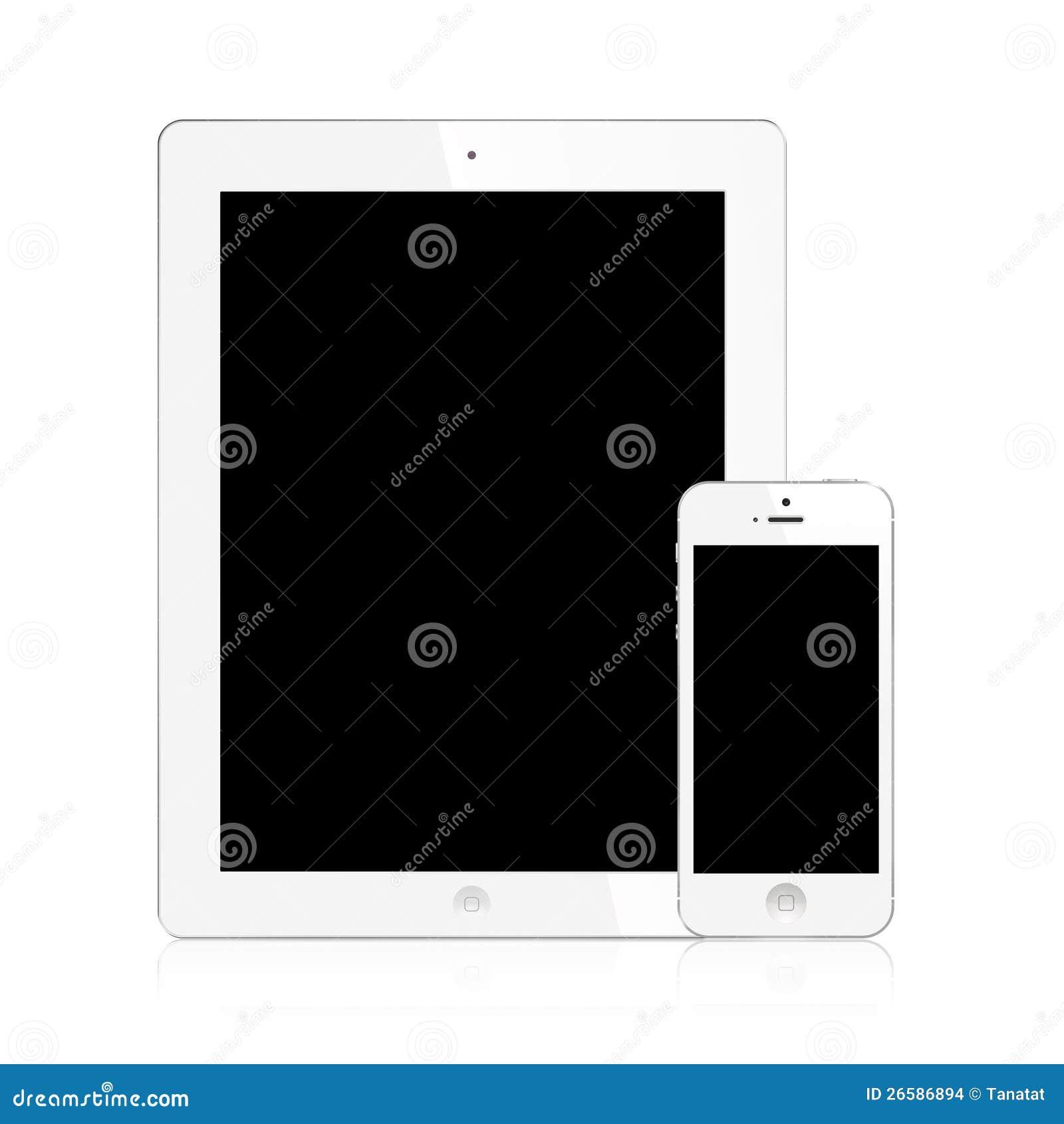 Nowy Ipad (Ipad i Odizolowywający iPhone biel 3) 5
