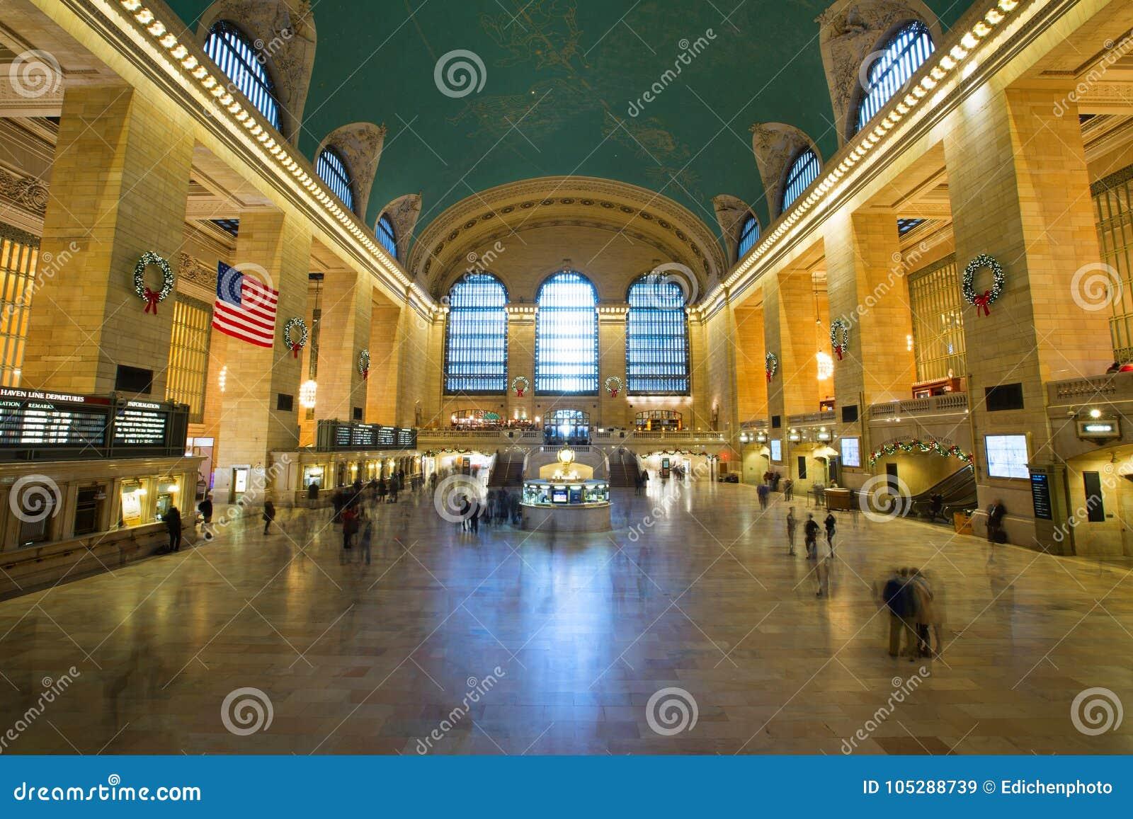 NOWY JORK, usa - NOV 27, 2017: Uroczysty Środkowy Terminal GCT