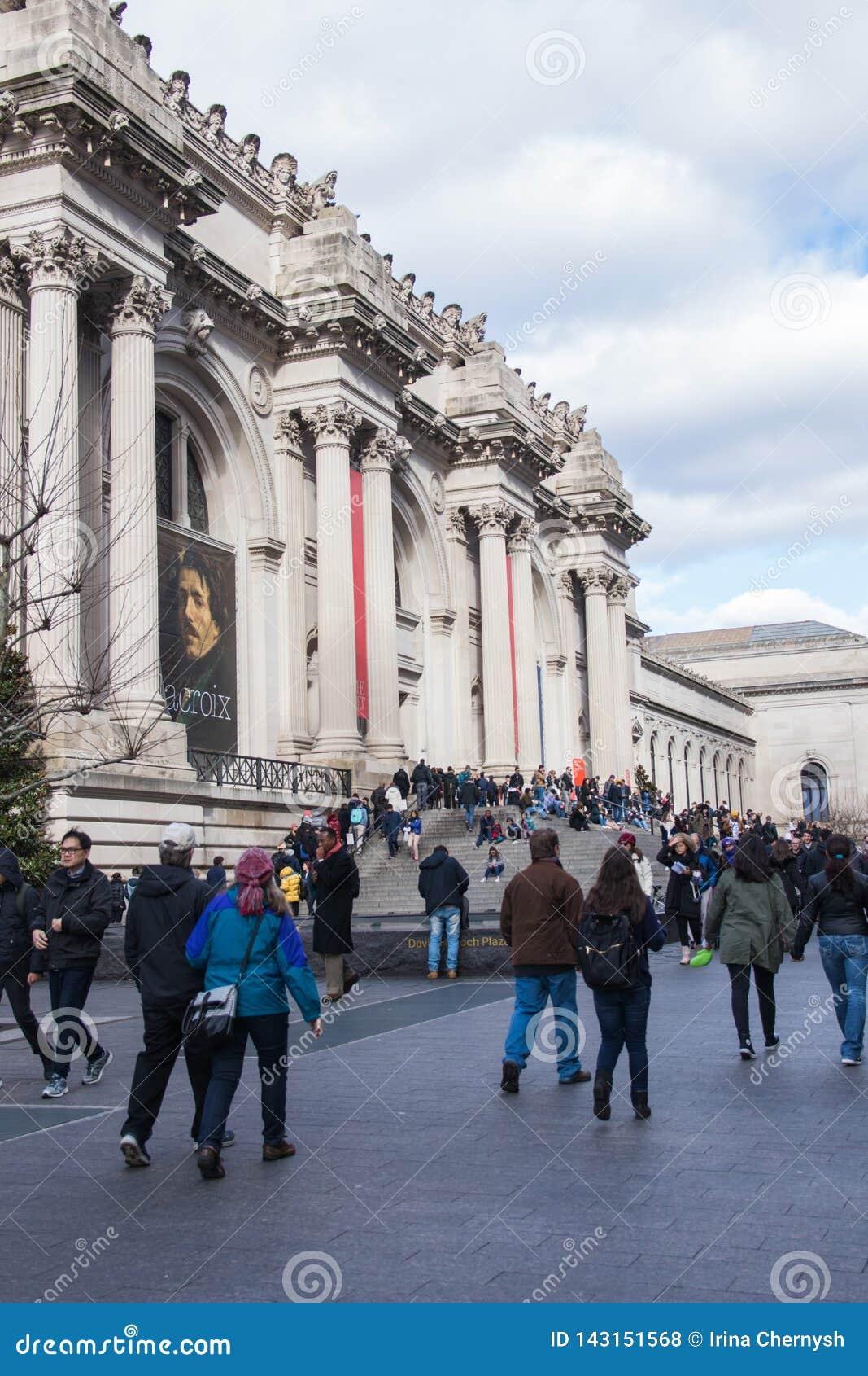 Nowy Jork, usa - 3 Styczeń, 2019: Wielkomiejski muzeum sztuki w Miasto Nowy Jork, jest muzeum sztuki w Stany Zjednoczone wejście