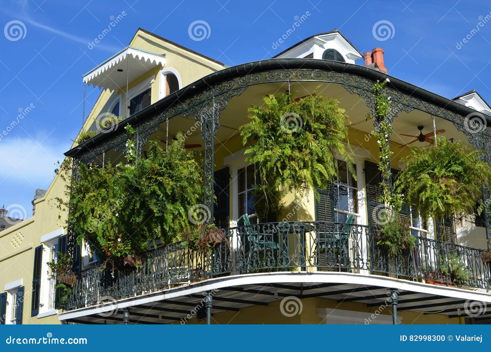 Nowy Orlean balkonu ogród