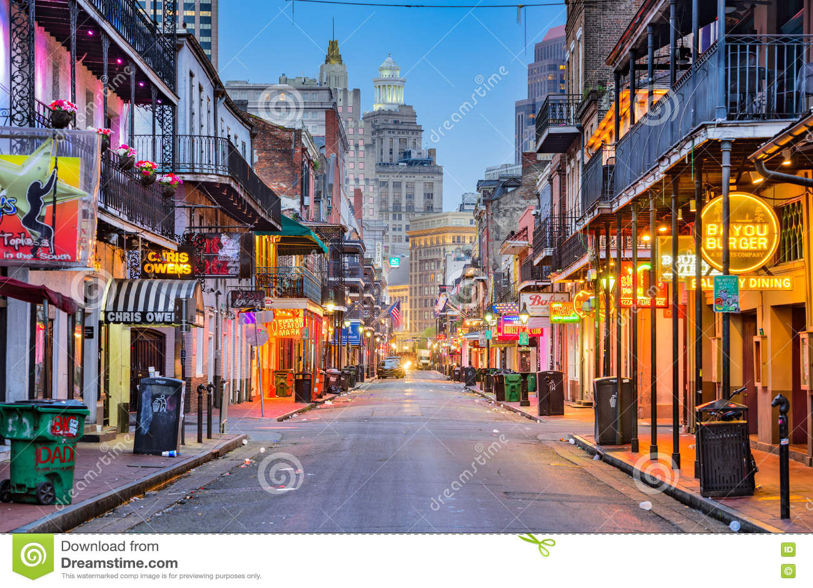 Nowy Orlean bourbonu ulica