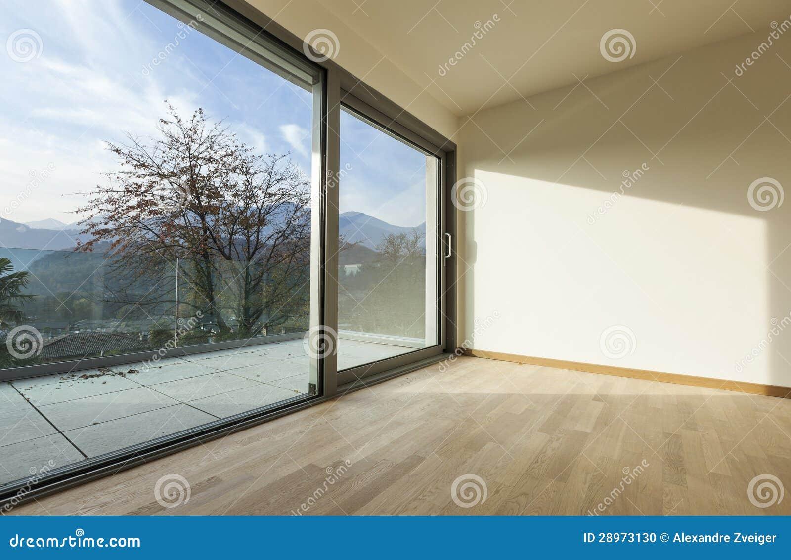 Nowy pusty mieszkanie, pokój
