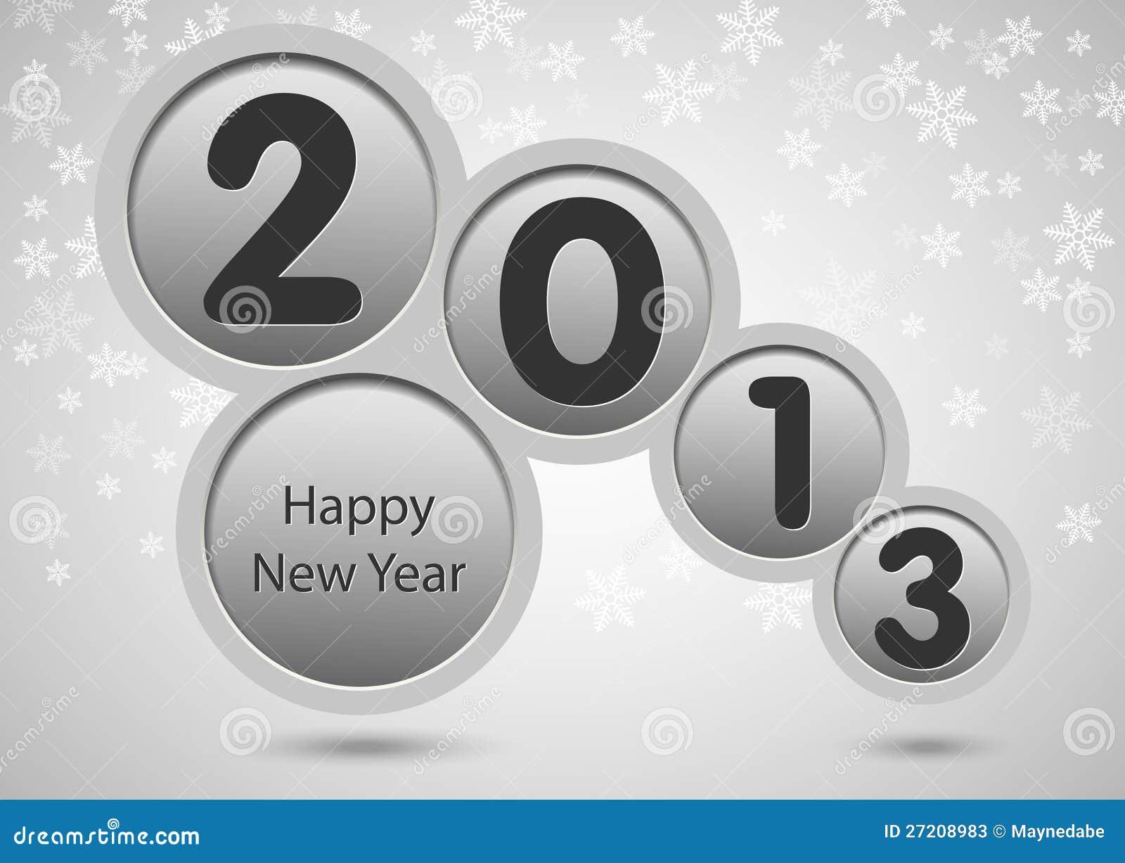 Nowy rok 2013 szczęśliwych kart