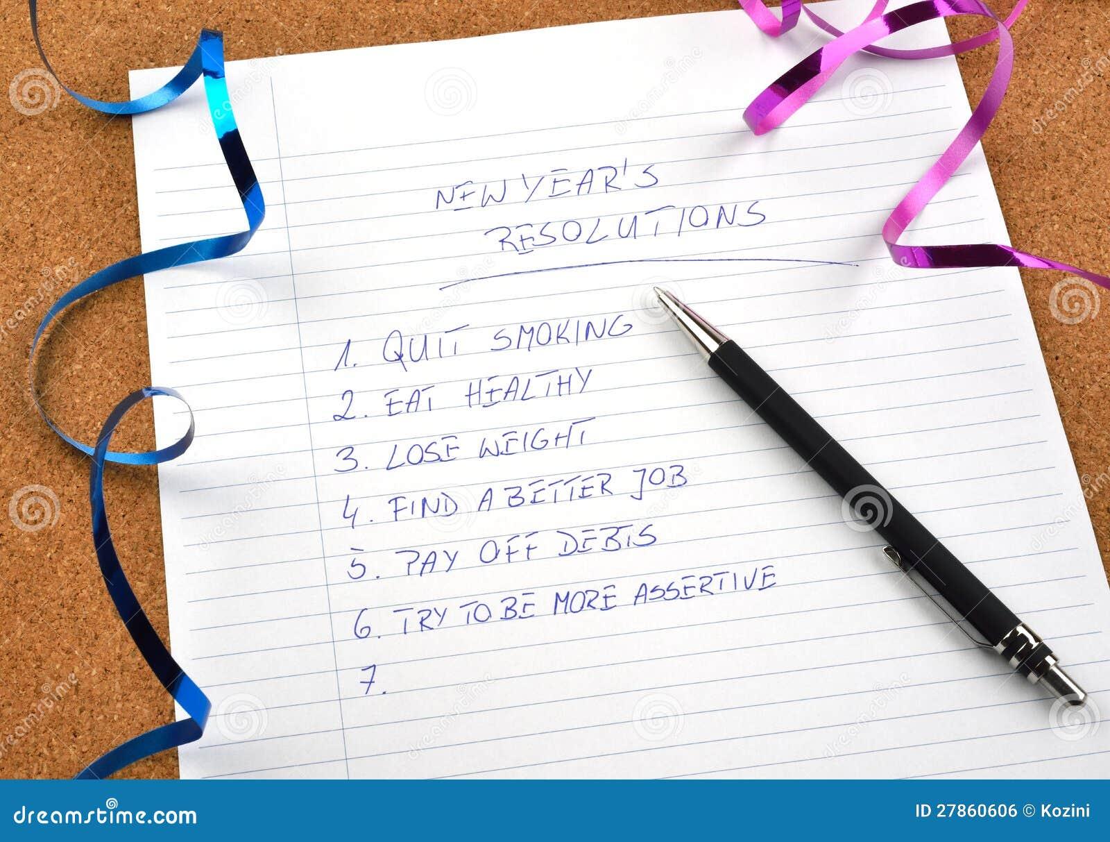 Nowy Rok faborki postanowienia i