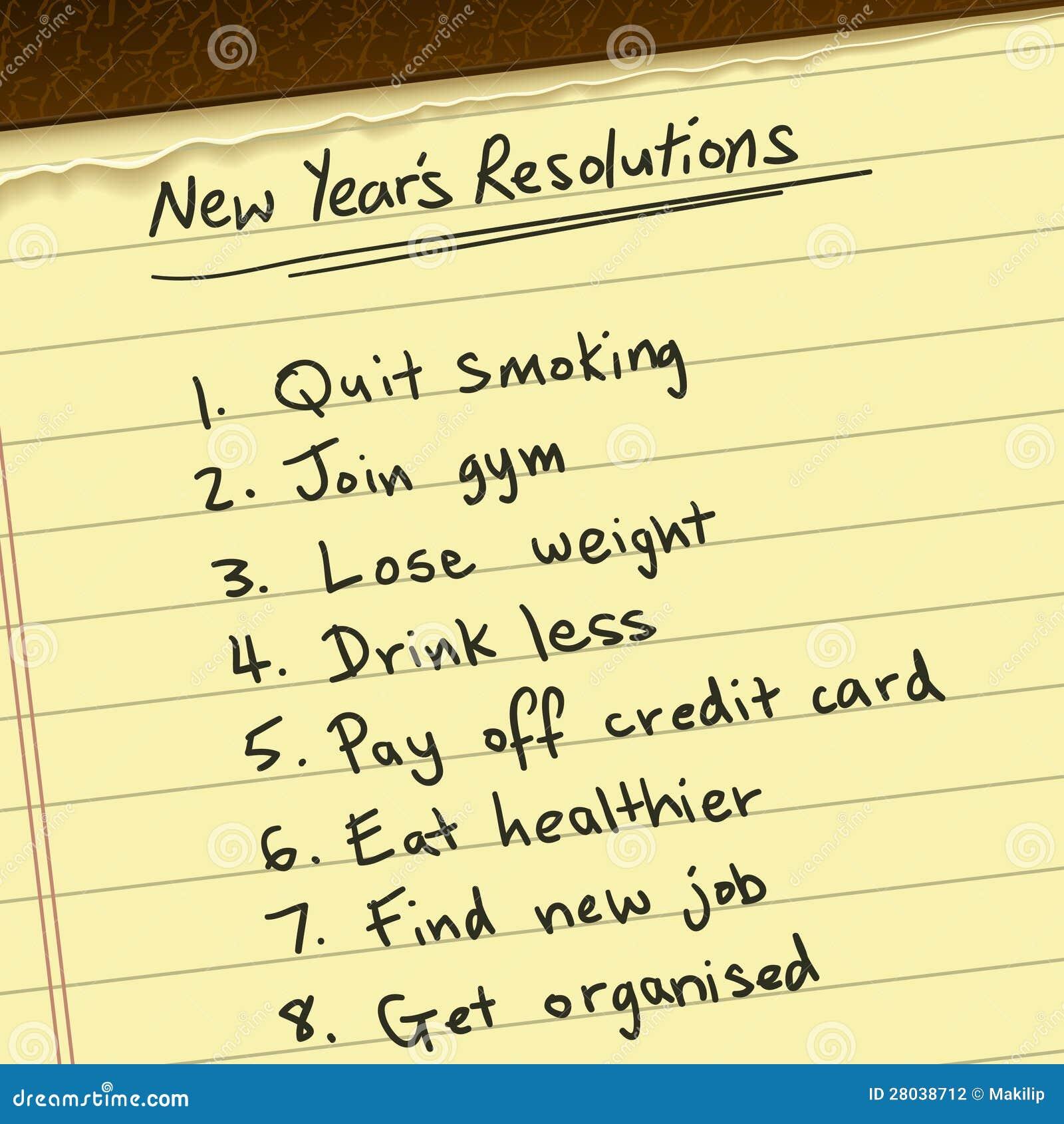 Nowy Rok postanowienie