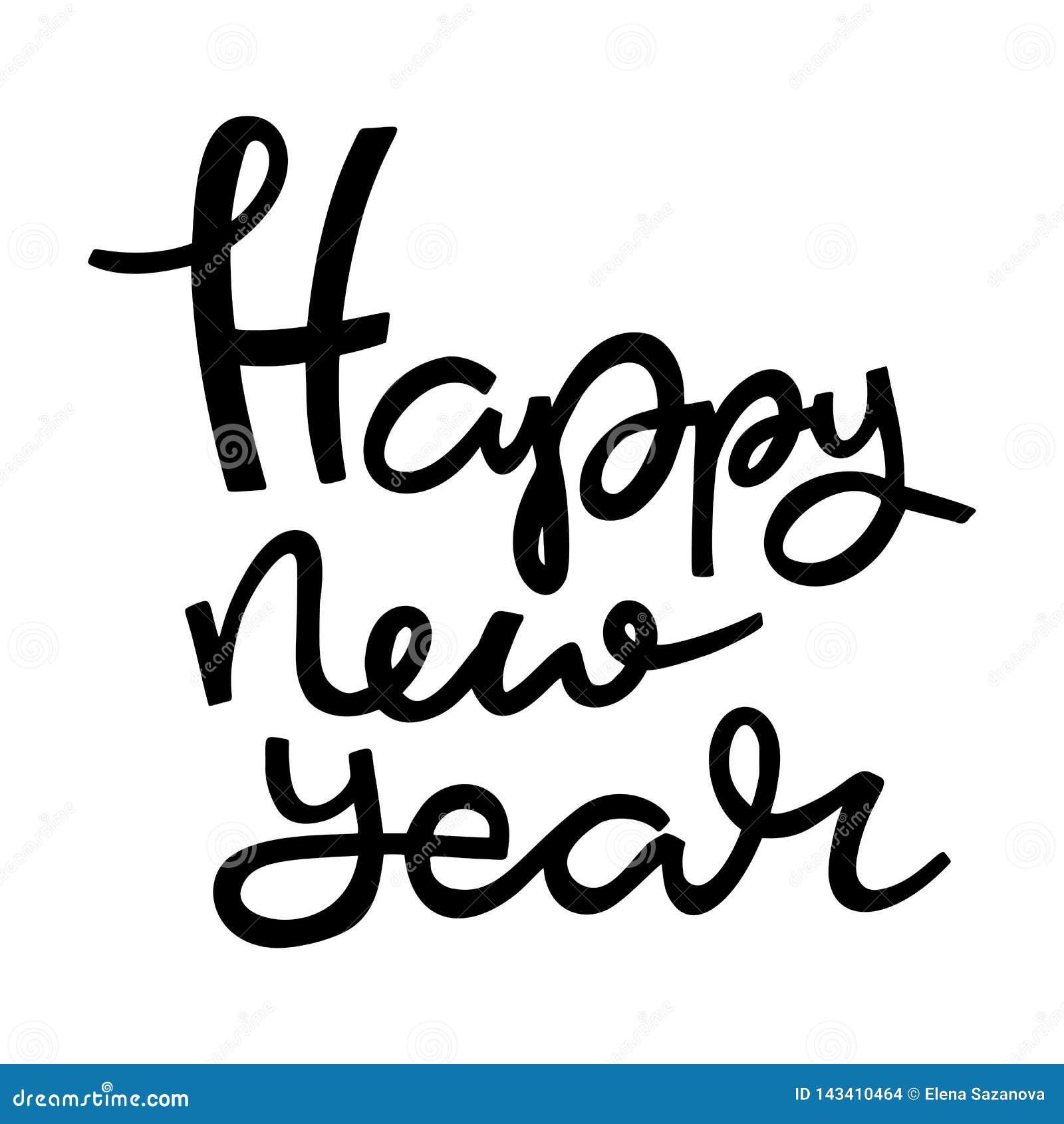 Nowy rok ręki literowanie