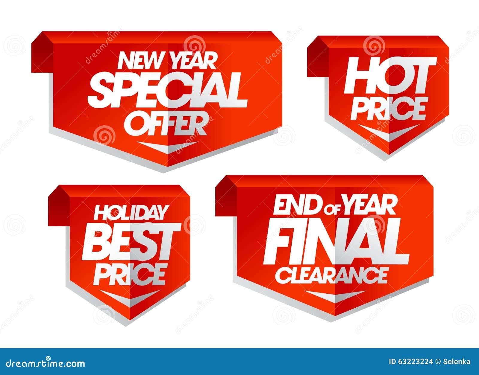 Nowy rok specjalna oferta, gorąca cena, wakacyjna najlepszy cena, końcówka rok poremanentowej sprzedaży definitywne etykietki