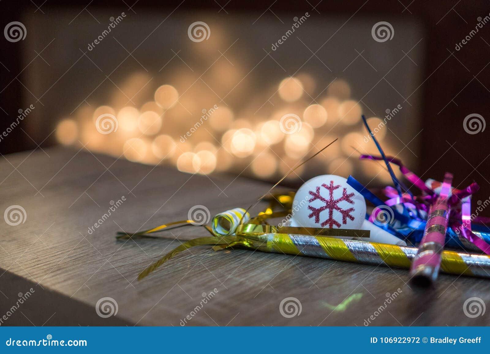 Nowy Rok wigilia ornamenty i dekoracj