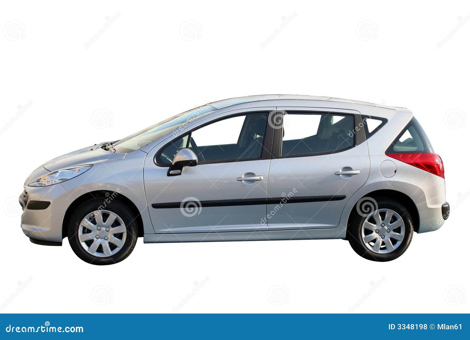 Nowy samochód srebra