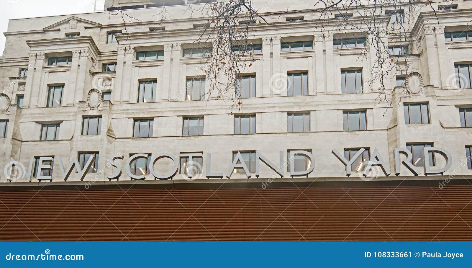 Nowy Scotland Yard jest HQ Wielkomiejska policja i lokalizuje na Wiktoria Embankement, Londyn, Styczeń 2018