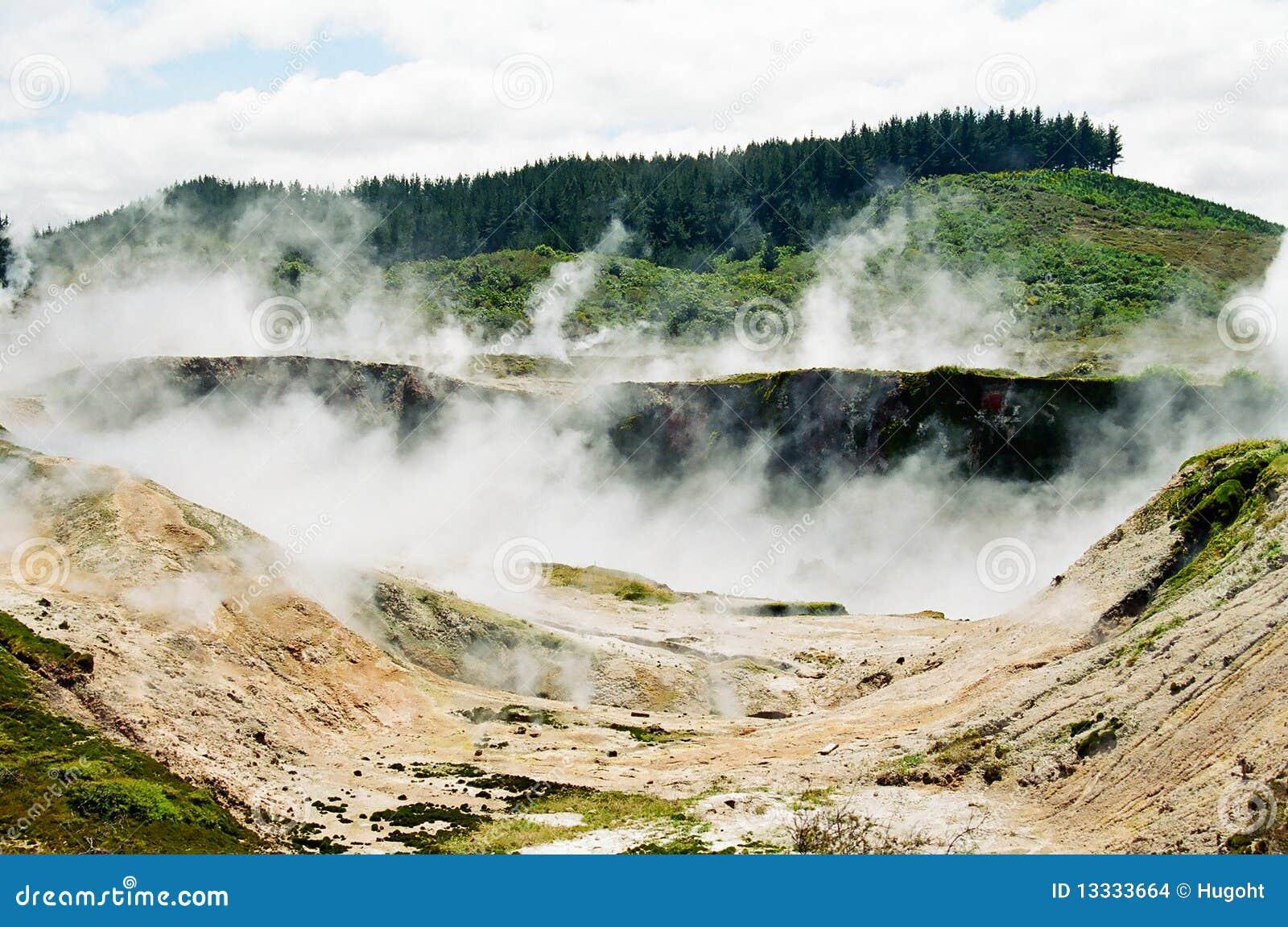 Nowy terenu taupo powulkaniczny Zealand