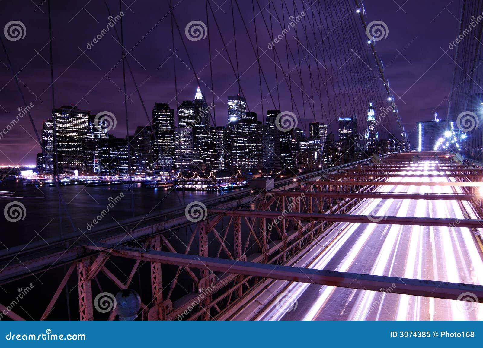 Nowy York w nocy miasto