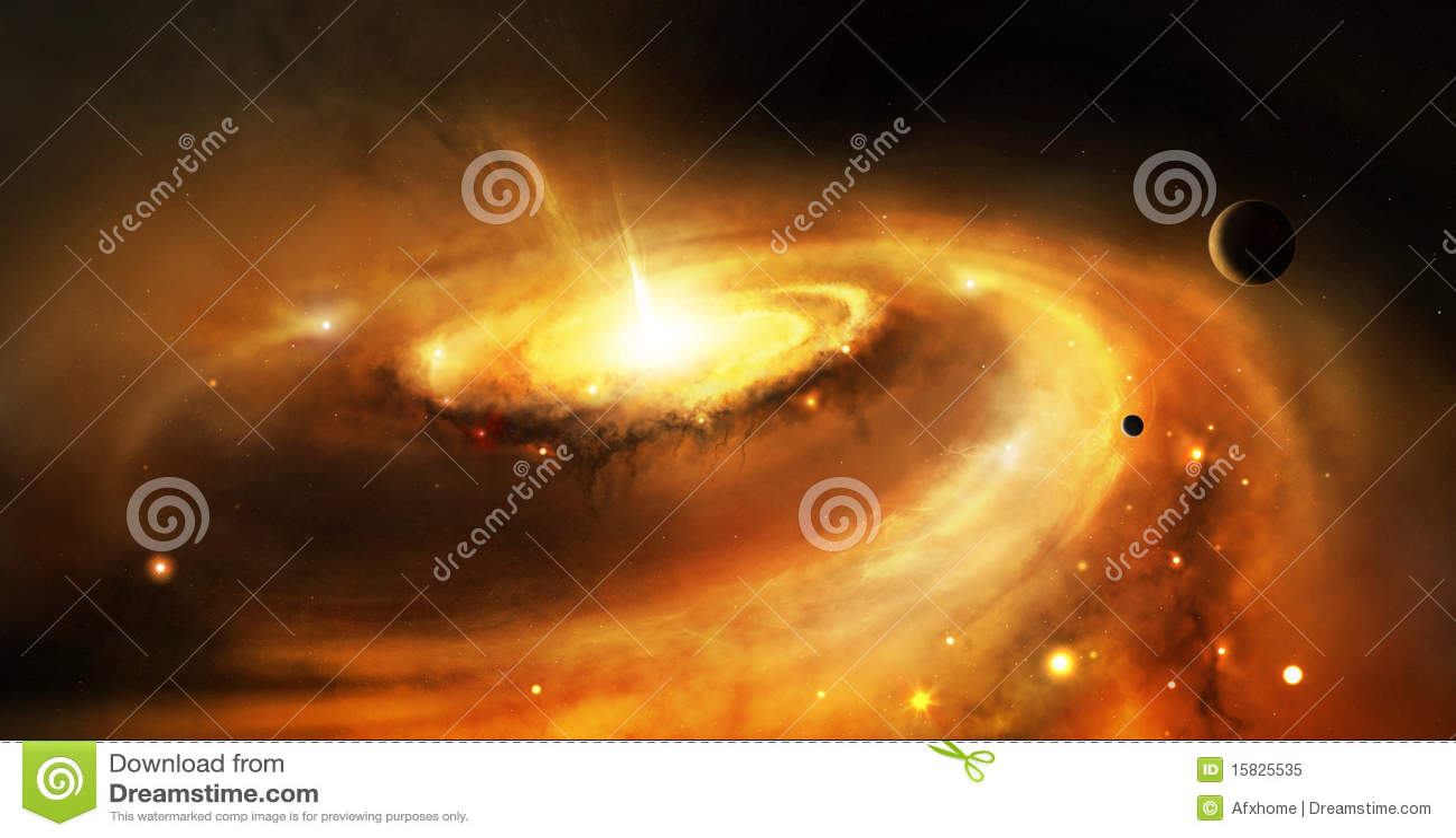 Noyau de galaxie dans l espace