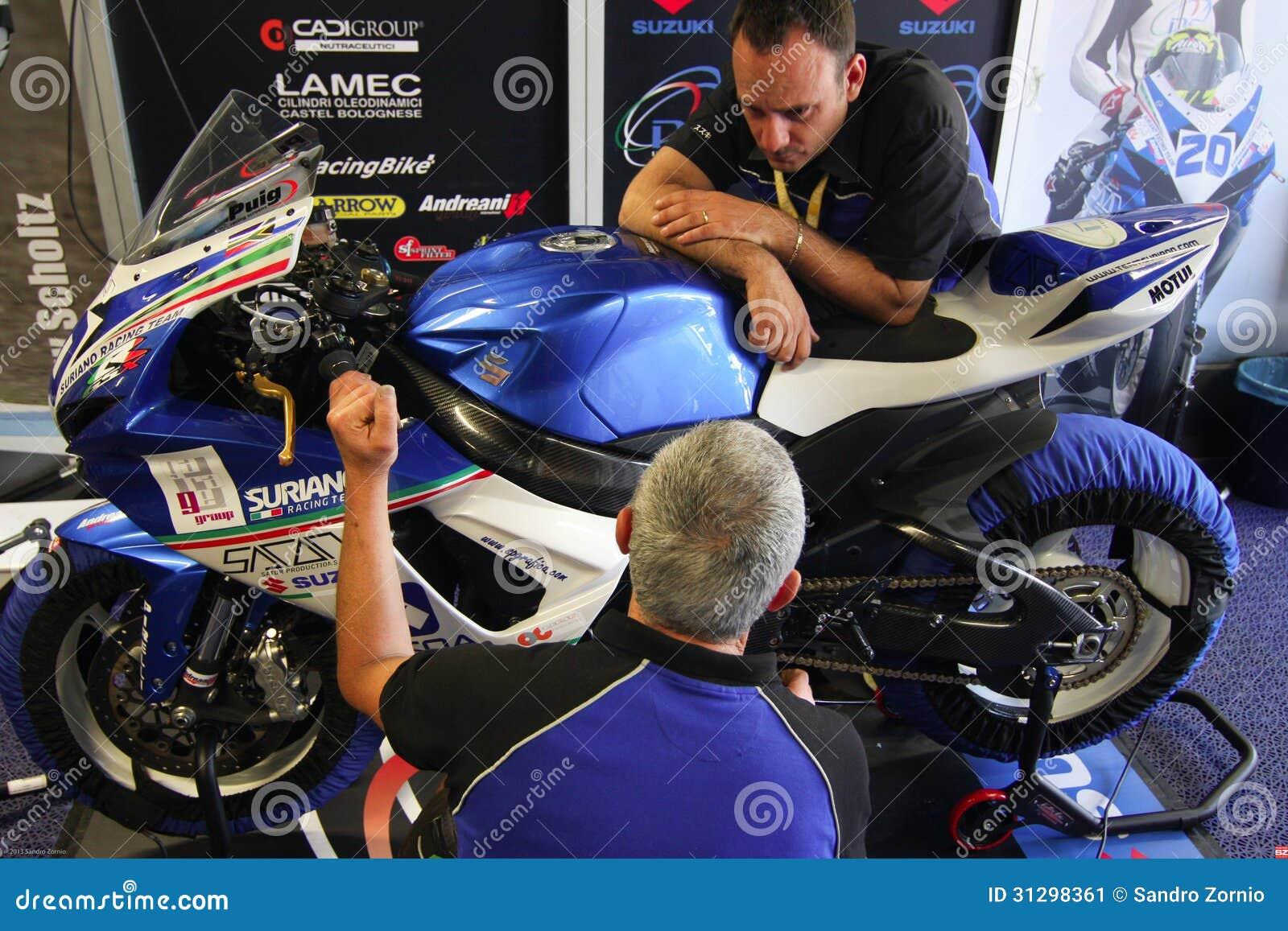 NS Suriano Corse Suzuki GSX-R 600 in Supersport championship WSS