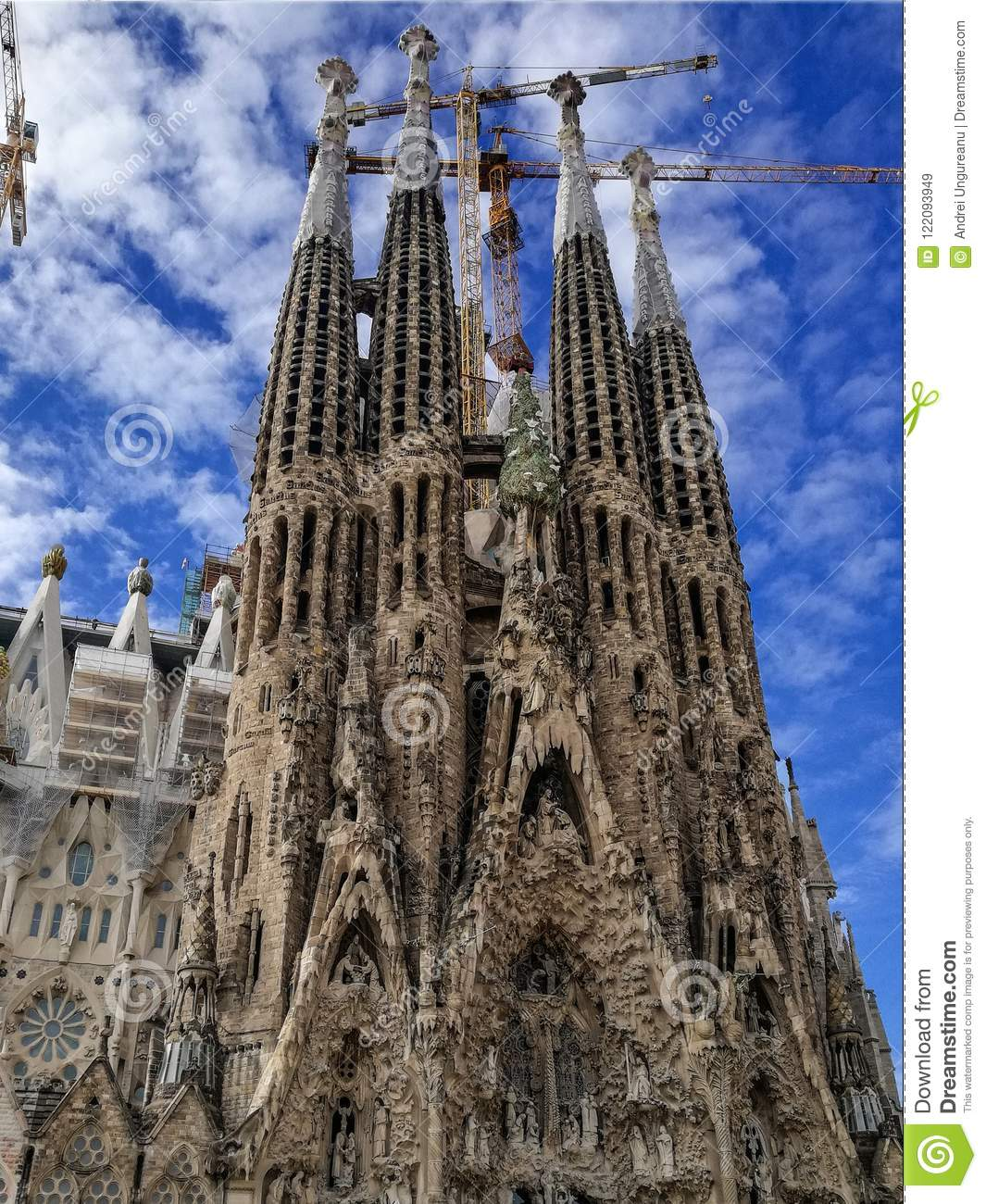 Sagrada Familia Stock Image Image Of Barcelona Europe 122093949