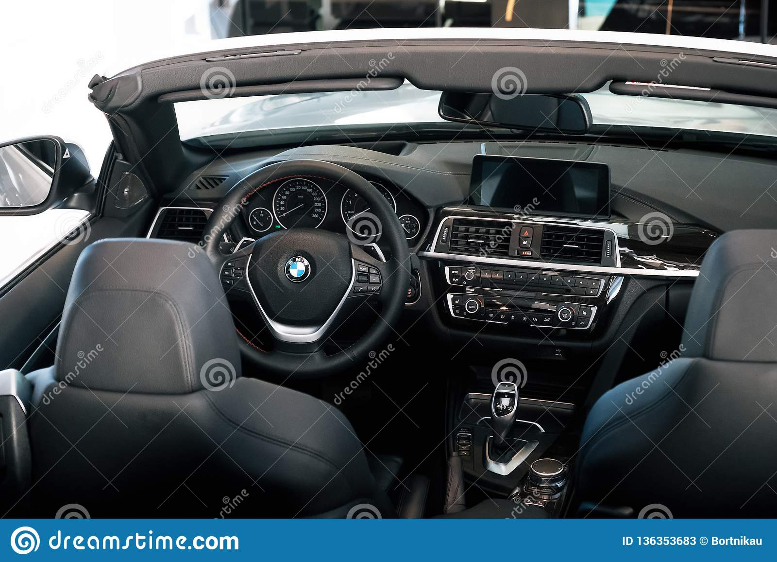 Nterior Of Bmw 430 Cabriolet Sports Car Editorial Stock Photo Image Of Automotive Elegant 136353683