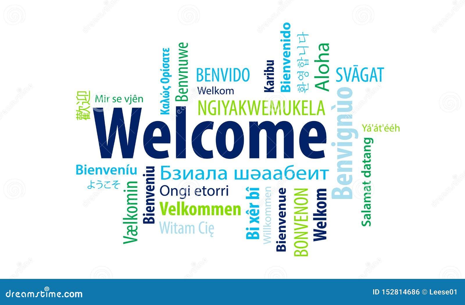 Nuage bienvenu de mot