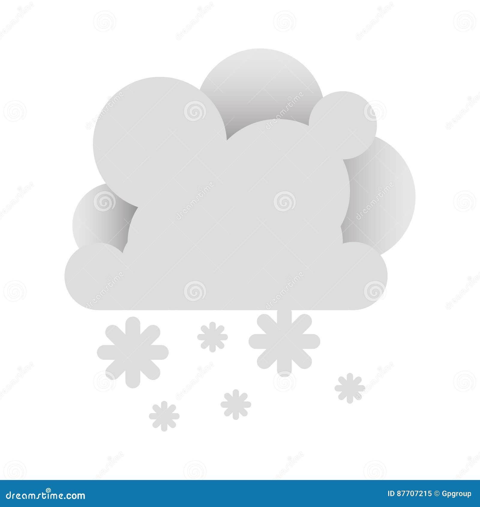 Nuage blanc avec l icône de neige