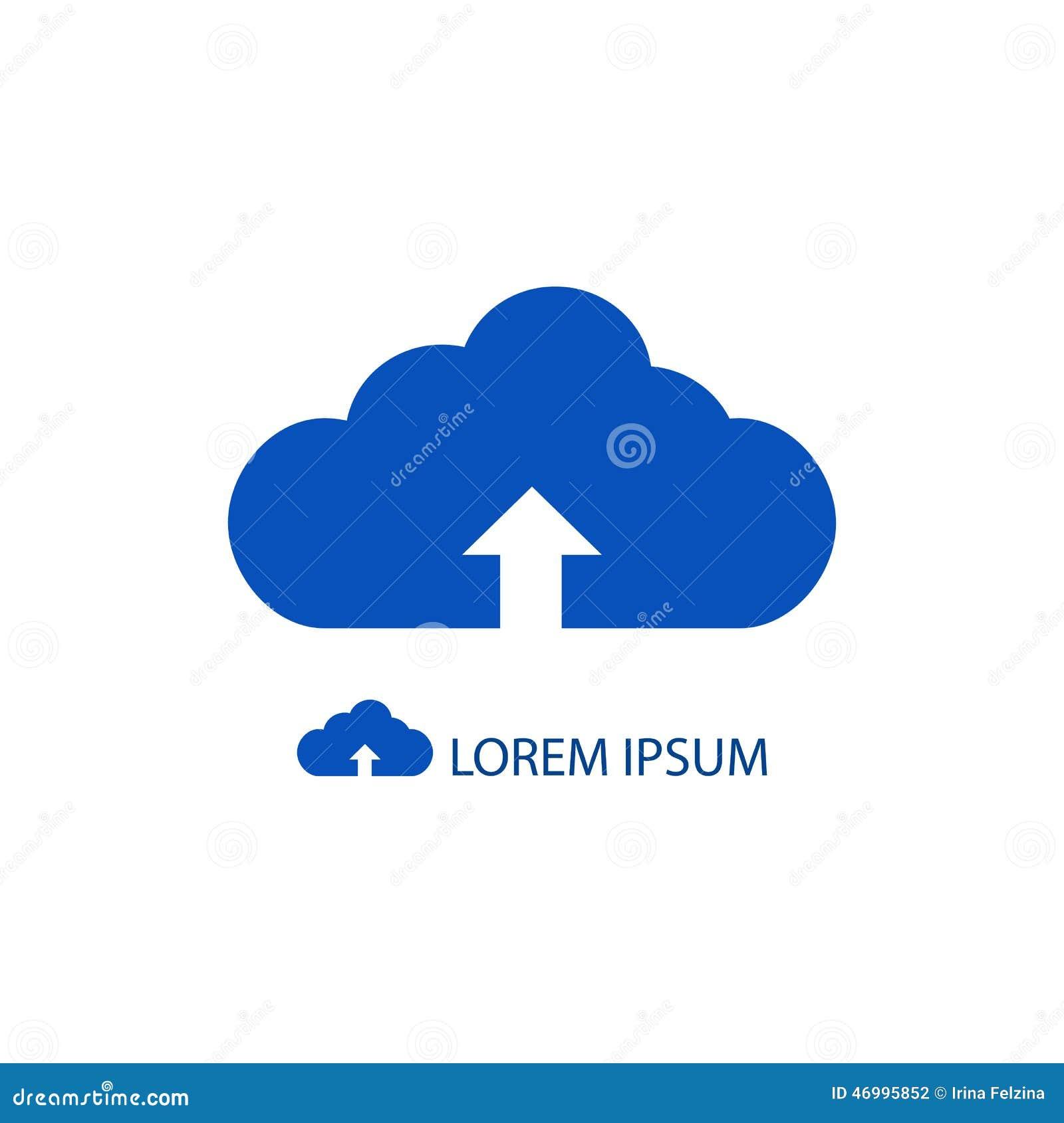 image logo nuage bleu